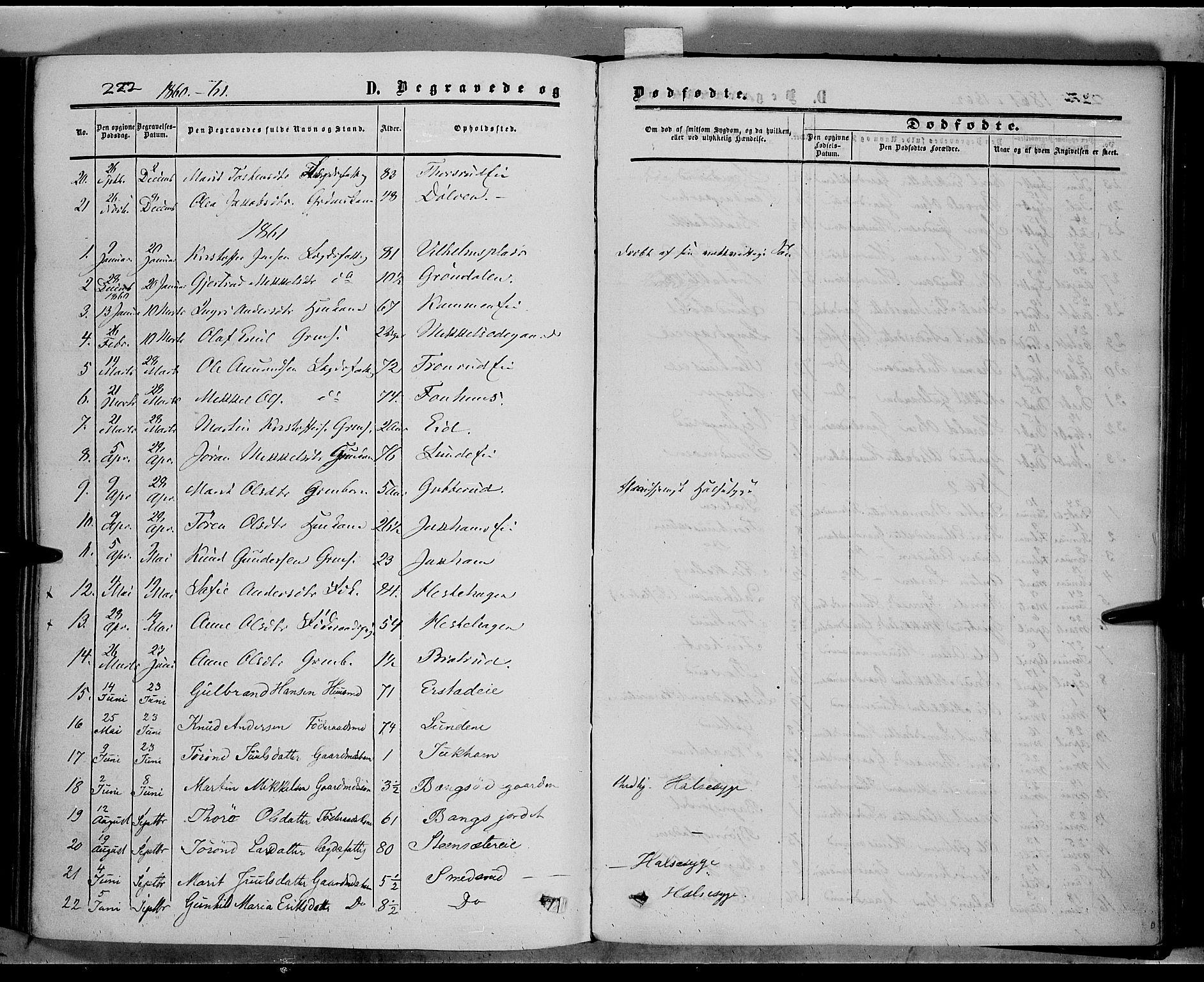 SAH, Sør-Aurdal prestekontor, Ministerialbok nr. 5, 1849-1876, s. 222