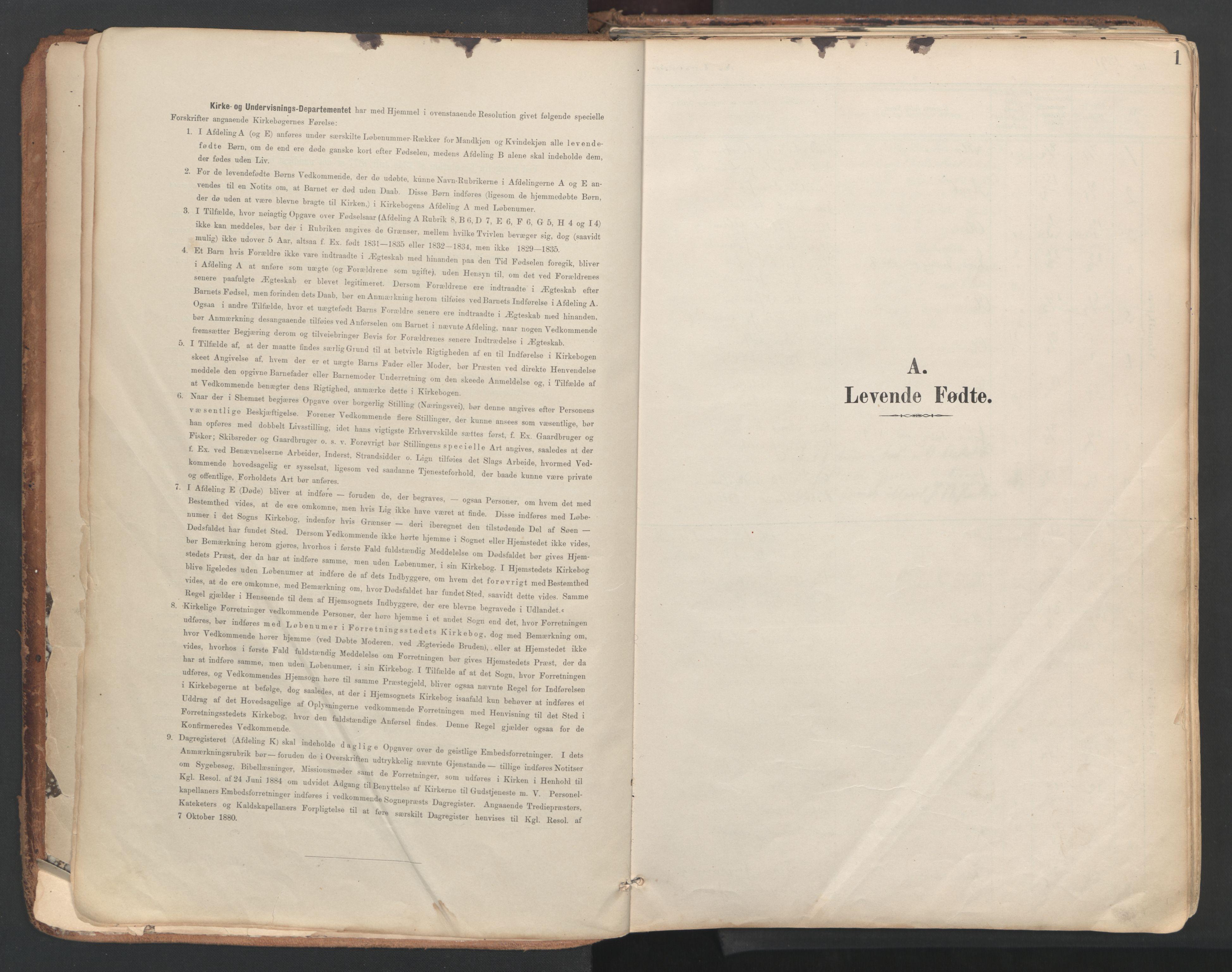 SAT, Ministerialprotokoller, klokkerbøker og fødselsregistre - Sør-Trøndelag, 687/L1004: Ministerialbok nr. 687A10, 1891-1923, s. 1