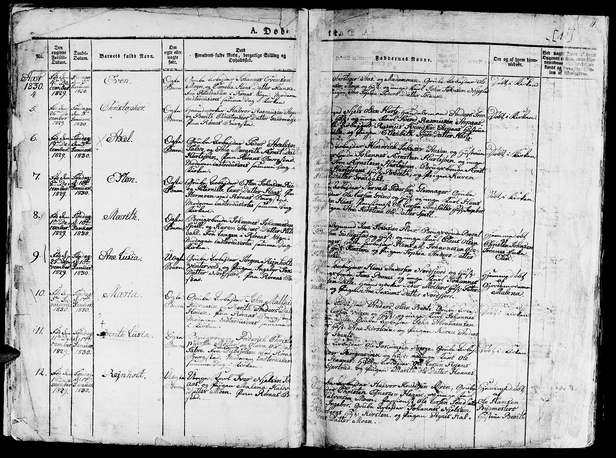 SAT, Ministerialprotokoller, klokkerbøker og fødselsregistre - Sør-Trøndelag, 681/L0938: Klokkerbok nr. 681C02, 1829-1879, s. 11