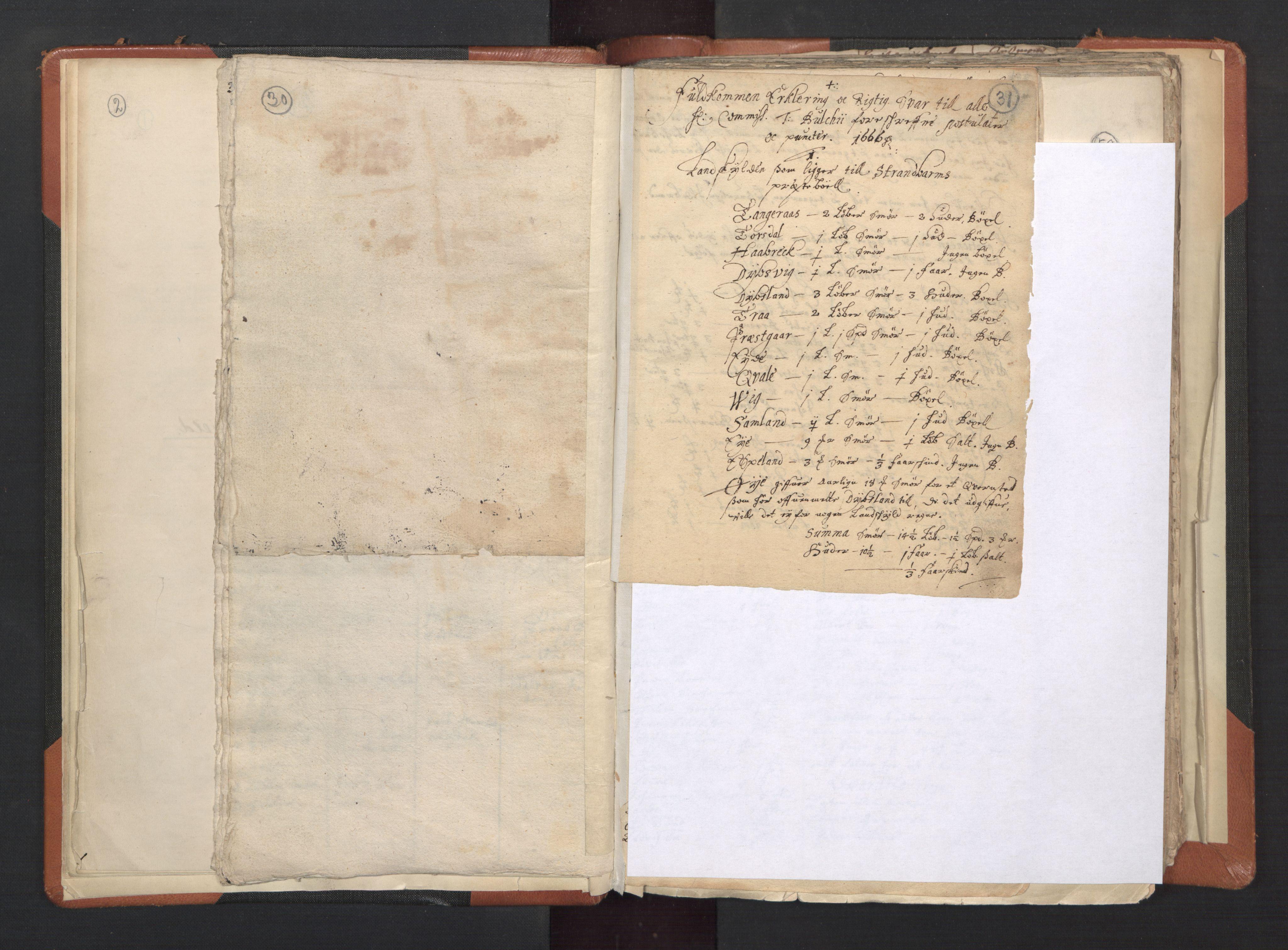 RA, Sogneprestenes manntall 1664-1666, nr. 20: Sunnhordland prosti, 1664-1666, s. 30-31