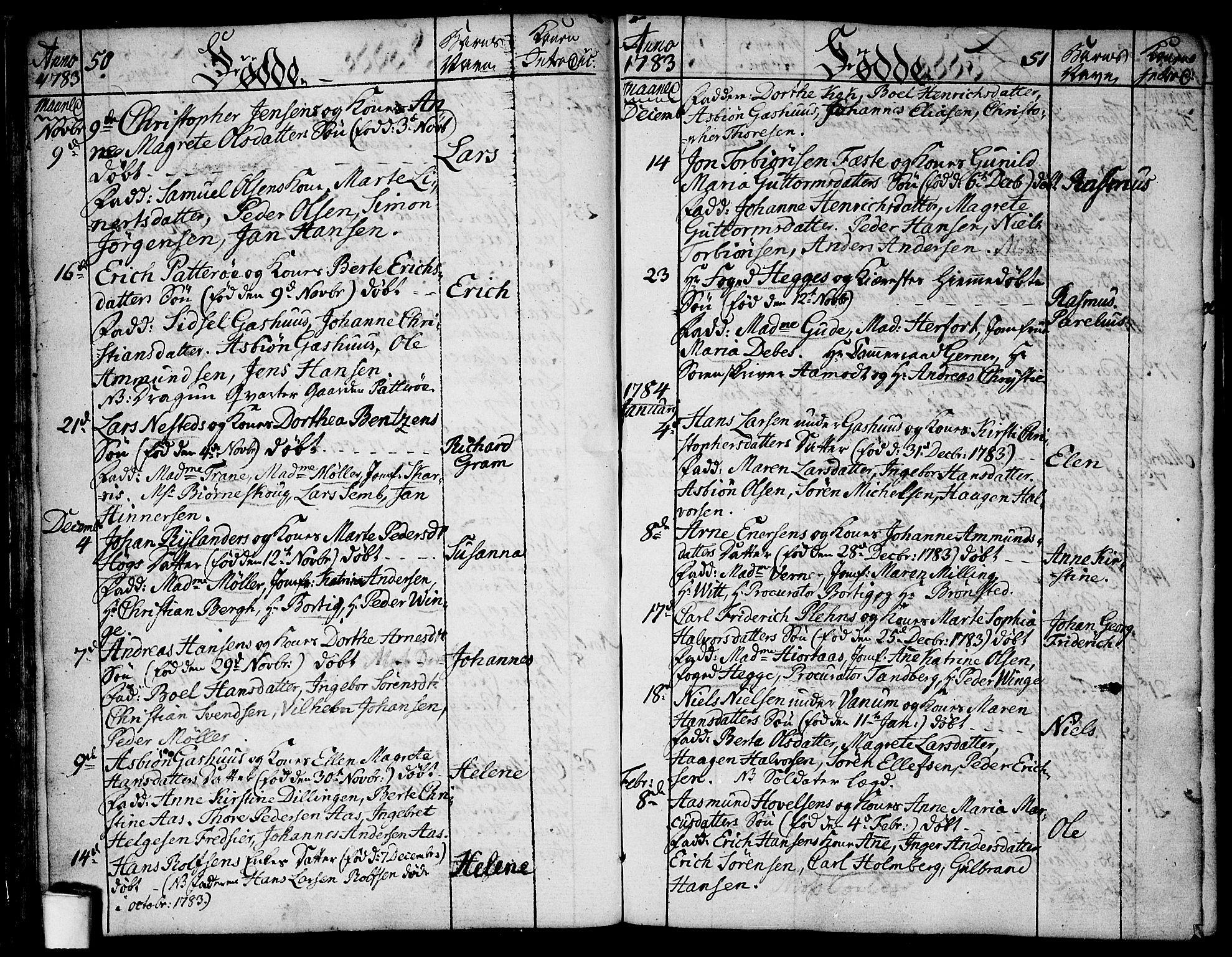 SAO, Moss prestekontor Kirkebøker, F/Fa/Faa/L0003: Ministerialbok nr. I 3, 1779-1814, s. 50-51