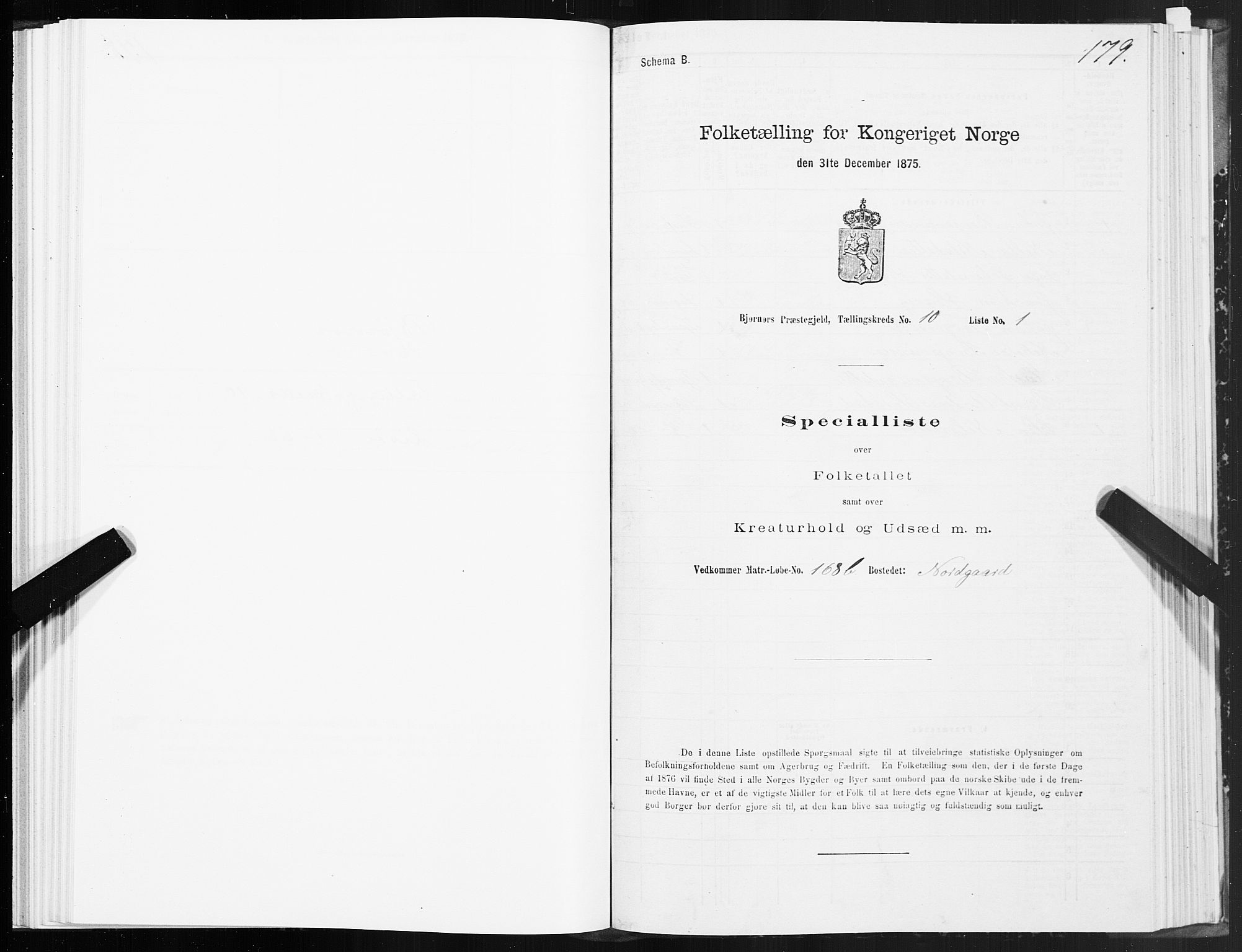 SAT, Folketelling 1875 for 1632P Bjørnør prestegjeld, 1875, s. 4179