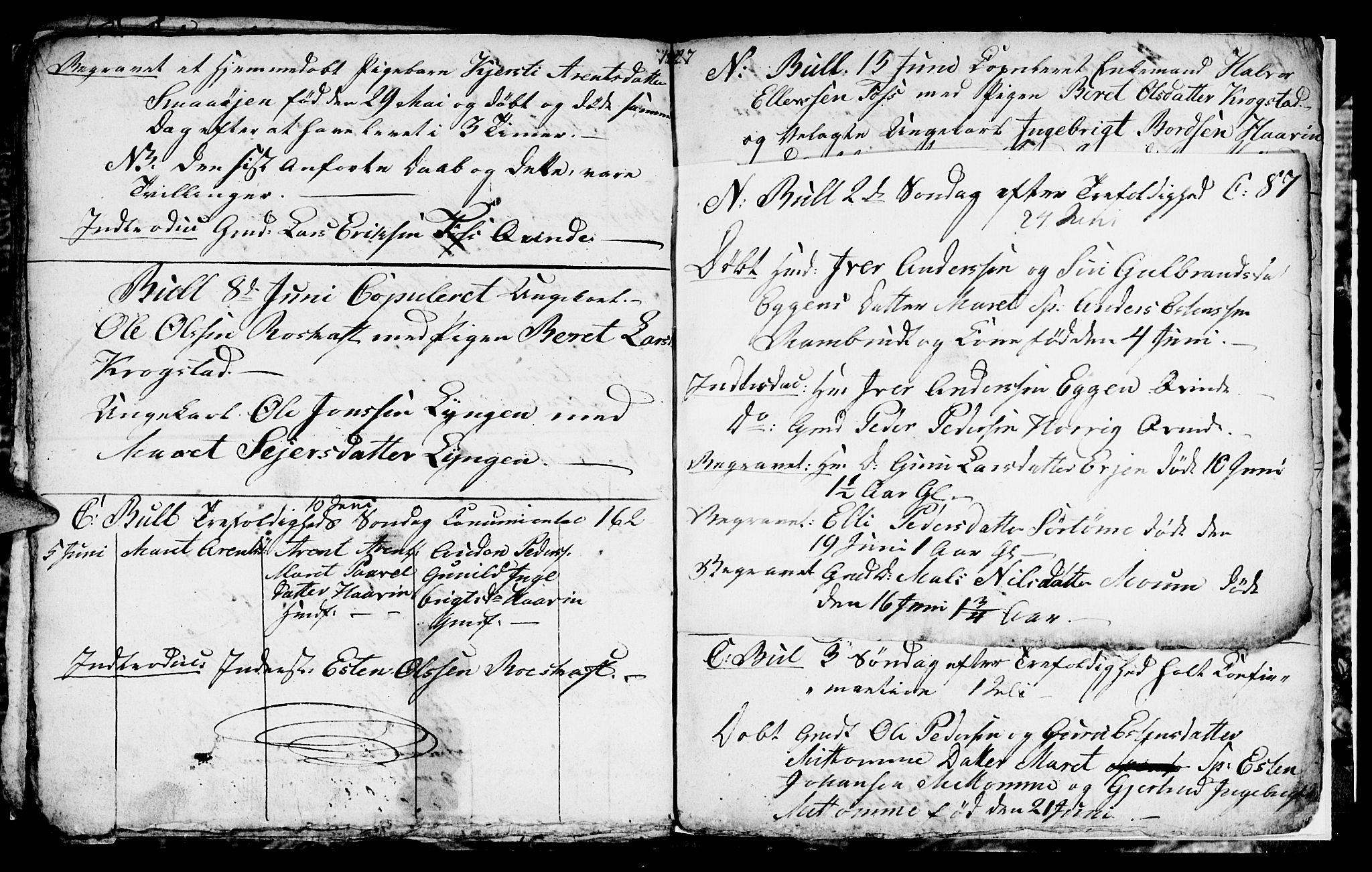 SAT, Ministerialprotokoller, klokkerbøker og fødselsregistre - Sør-Trøndelag, 692/L1109: Klokkerbok nr. 692C04, 1825-1827