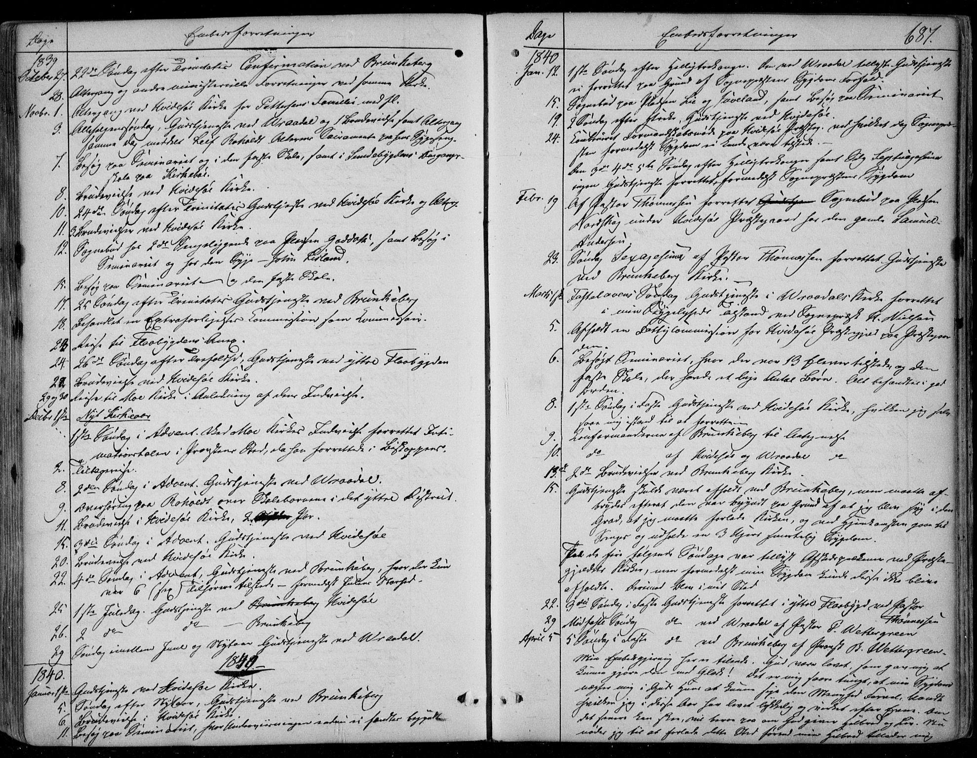 SAKO, Kviteseid kirkebøker, F/Fa/L0006: Ministerialbok nr. I 6, 1836-1858, s. 687