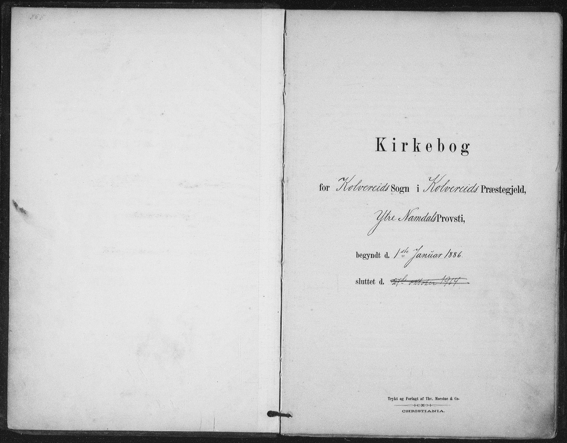 SAT, Ministerialprotokoller, klokkerbøker og fødselsregistre - Nord-Trøndelag, 780/L0644: Ministerialbok nr. 780A08, 1886-1903