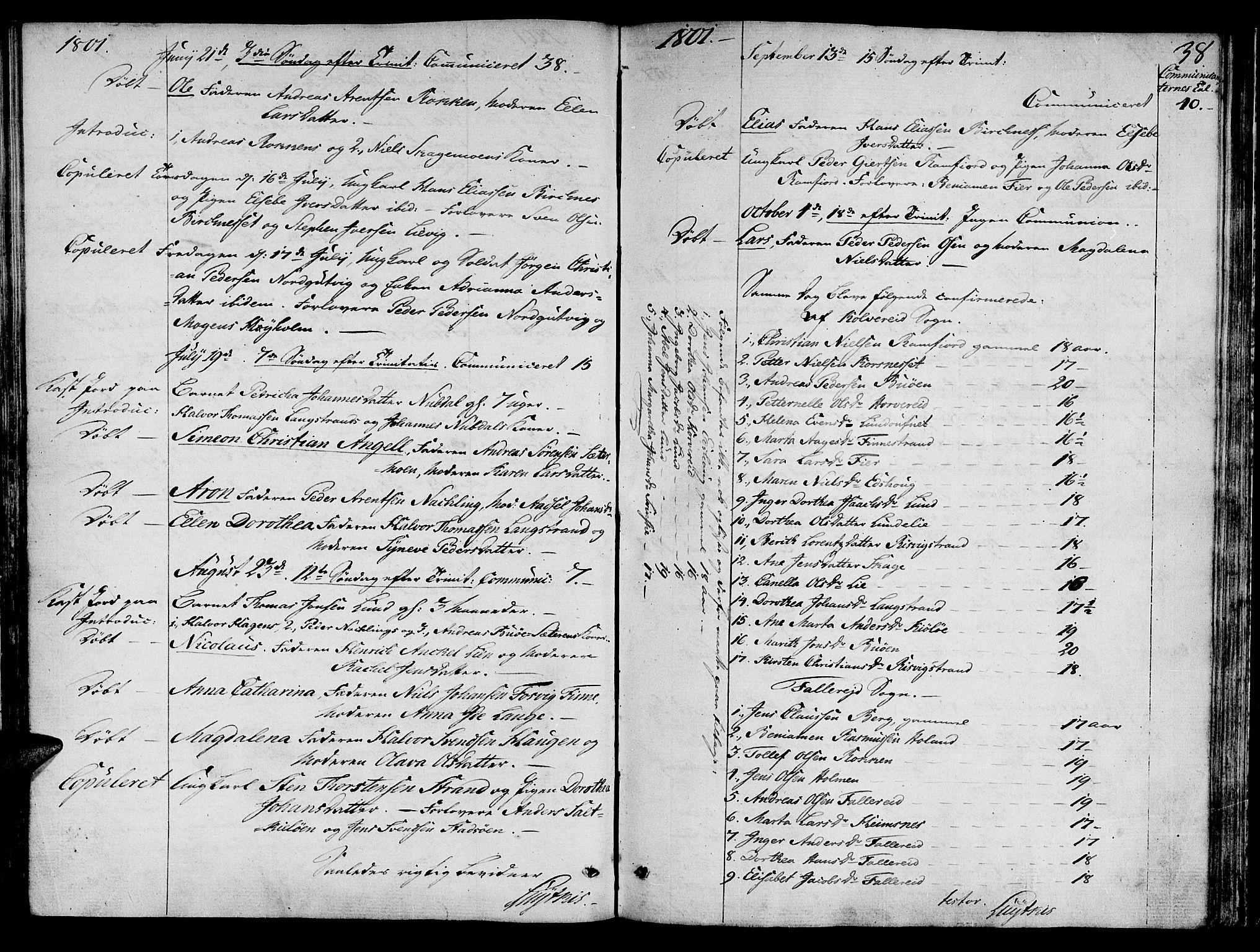 SAT, Ministerialprotokoller, klokkerbøker og fødselsregistre - Nord-Trøndelag, 780/L0633: Ministerialbok nr. 780A02 /1, 1787-1814, s. 38