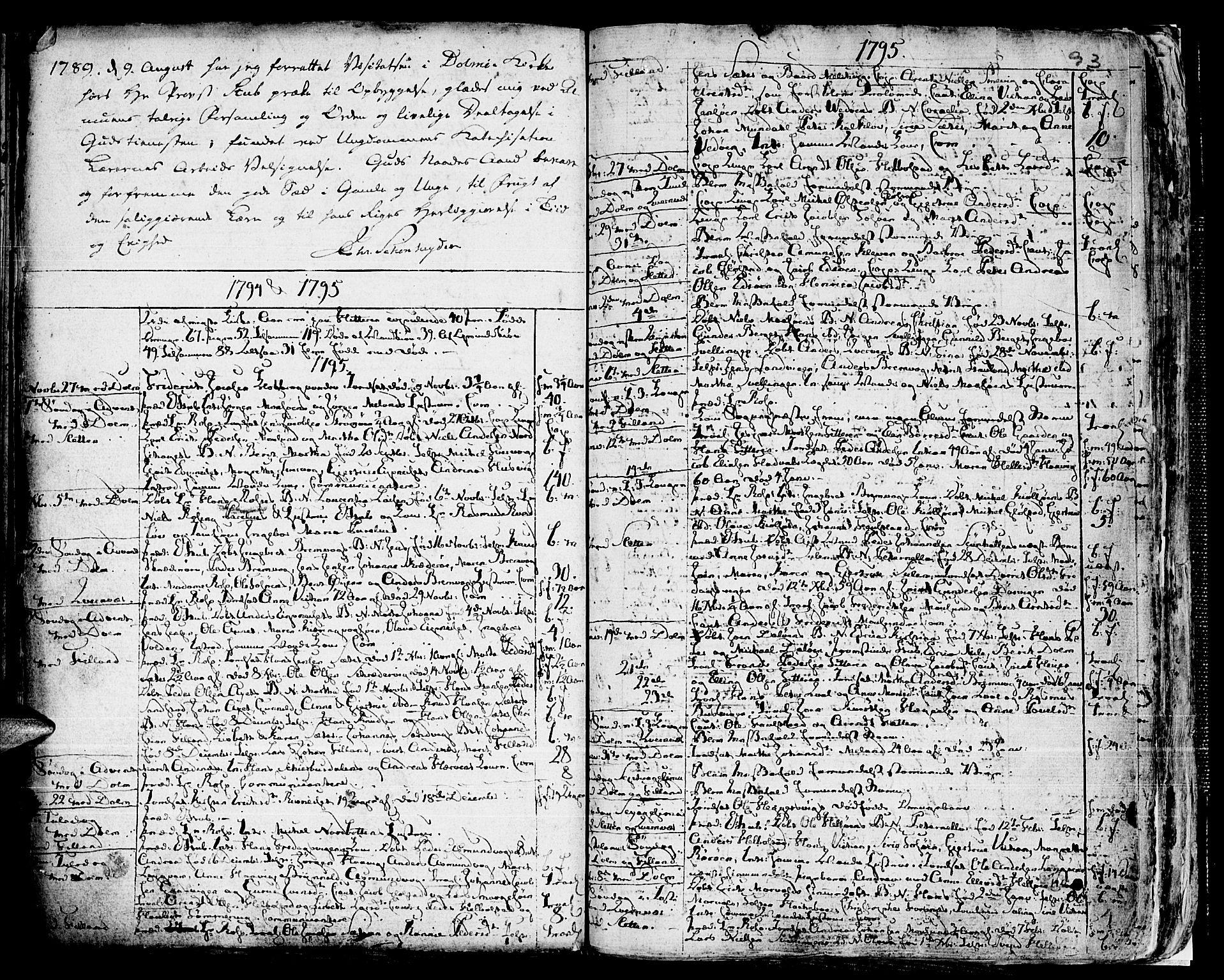 SAT, Ministerialprotokoller, klokkerbøker og fødselsregistre - Sør-Trøndelag, 634/L0526: Ministerialbok nr. 634A02, 1775-1818, s. 93
