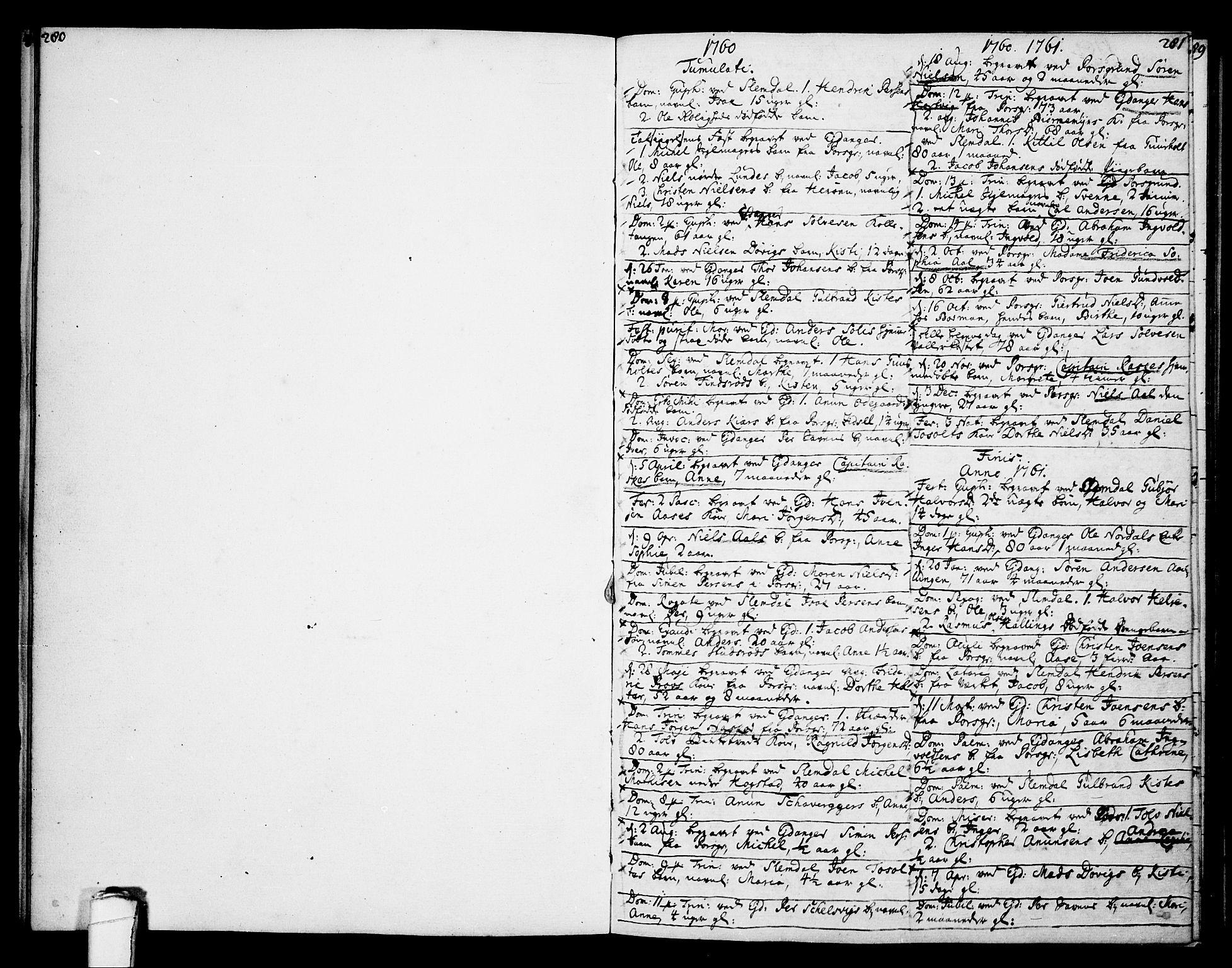 SAKO, Eidanger kirkebøker, F/Fa/L0005: Ministerialbok nr. 5, 1760-1764, s. 281