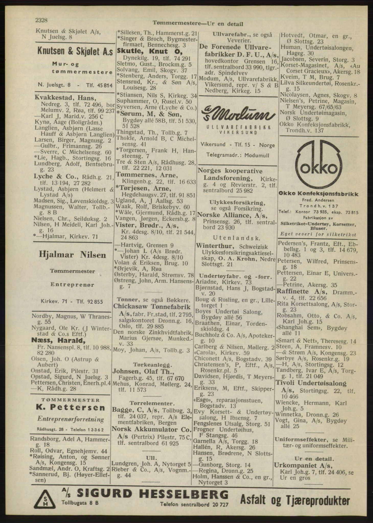 RA, Oslo adressebok (publikasjon)*, 1946, s. 2328