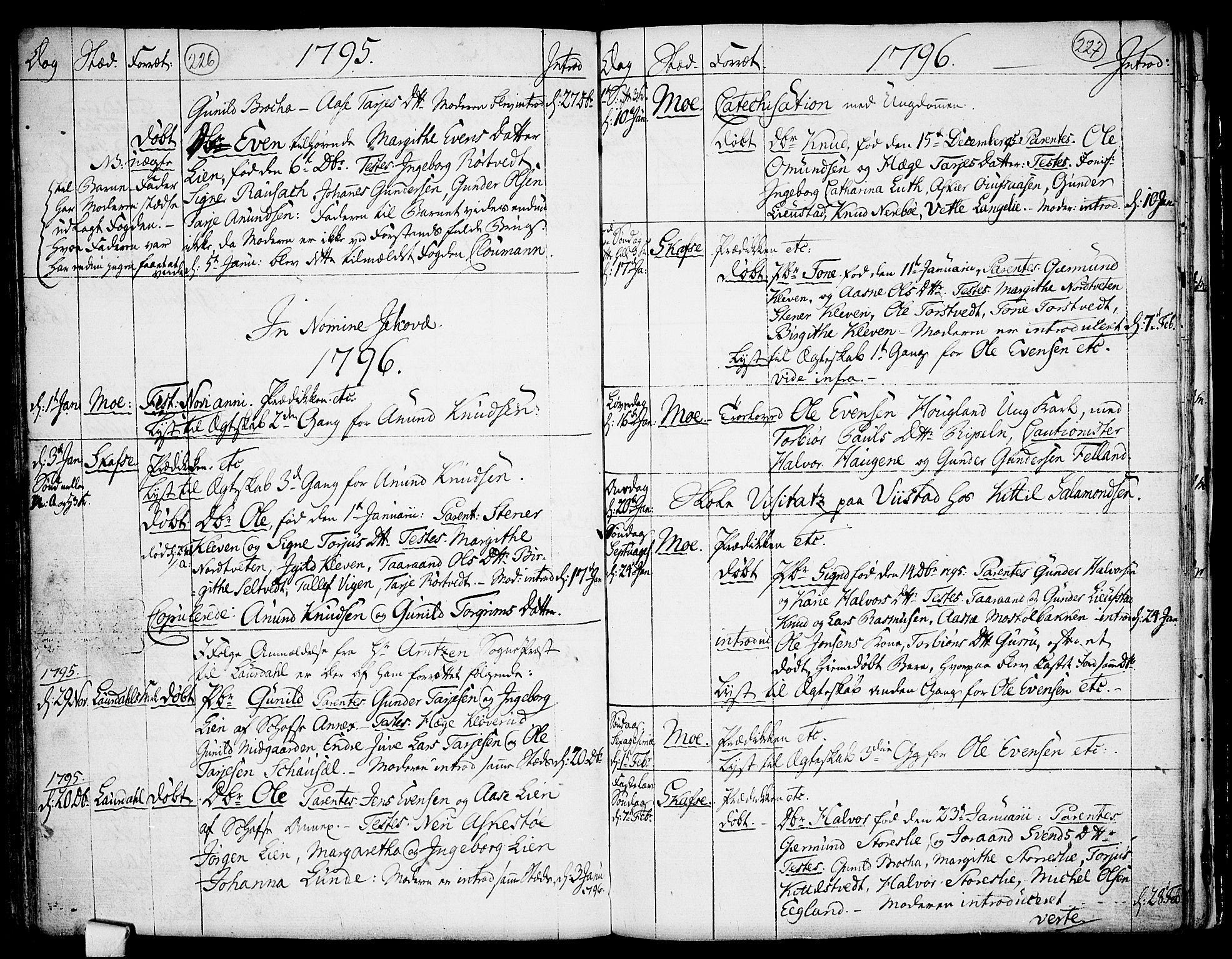 SAKO, Mo kirkebøker, F/Fa/L0002: Ministerialbok nr. I 2, 1766-1799, s. 226-227