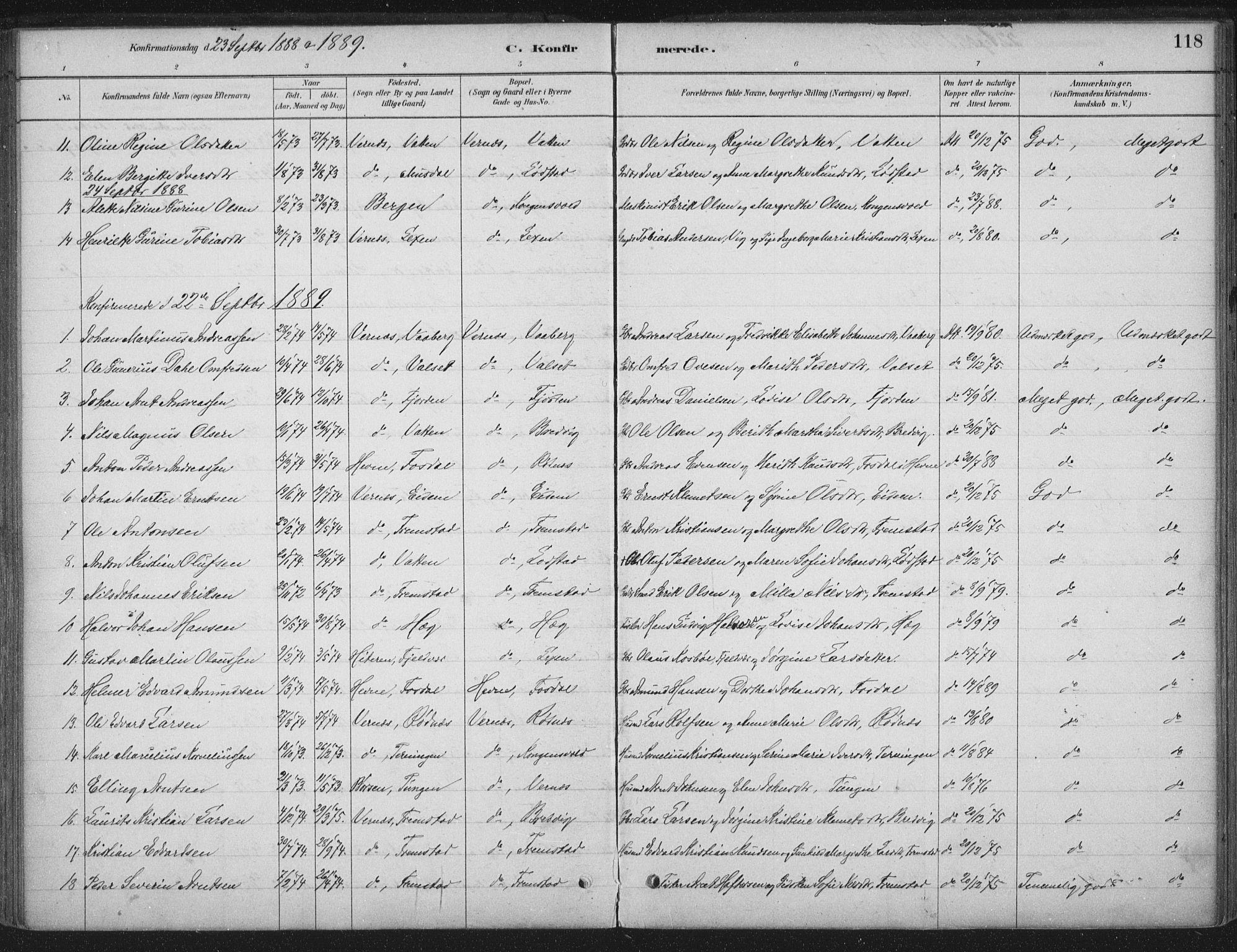 SAT, Ministerialprotokoller, klokkerbøker og fødselsregistre - Sør-Trøndelag, 662/L0755: Ministerialbok nr. 662A01, 1879-1905, s. 118