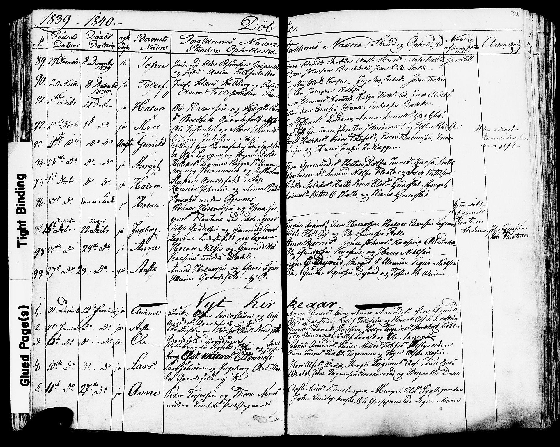 SAKO, Sauherad kirkebøker, F/Fa/L0006: Ministerialbok nr. I 6, 1827-1850, s. 78