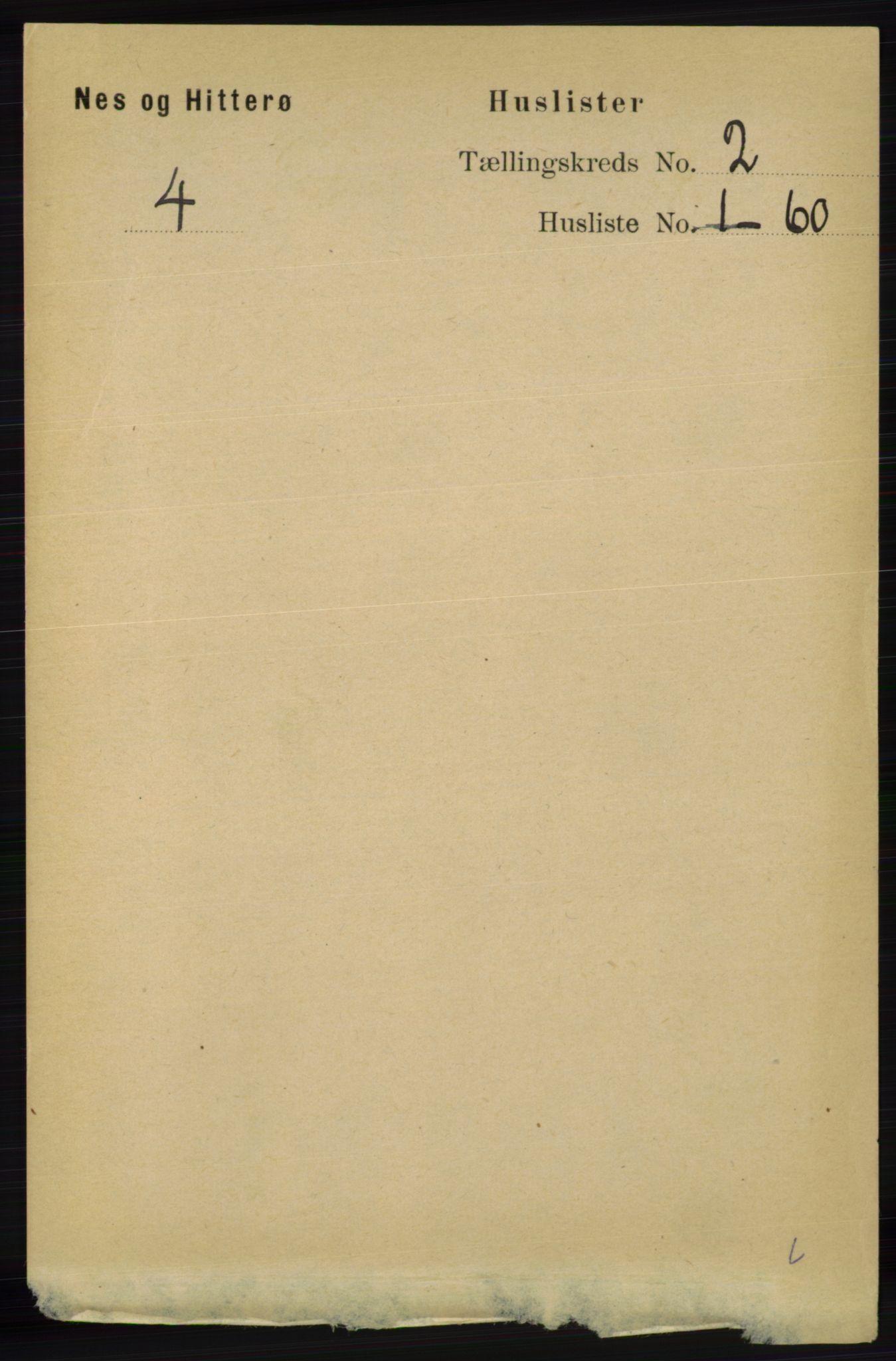 RA, Folketelling 1891 for 1043 Hidra og Nes herred, 1891, s. 470