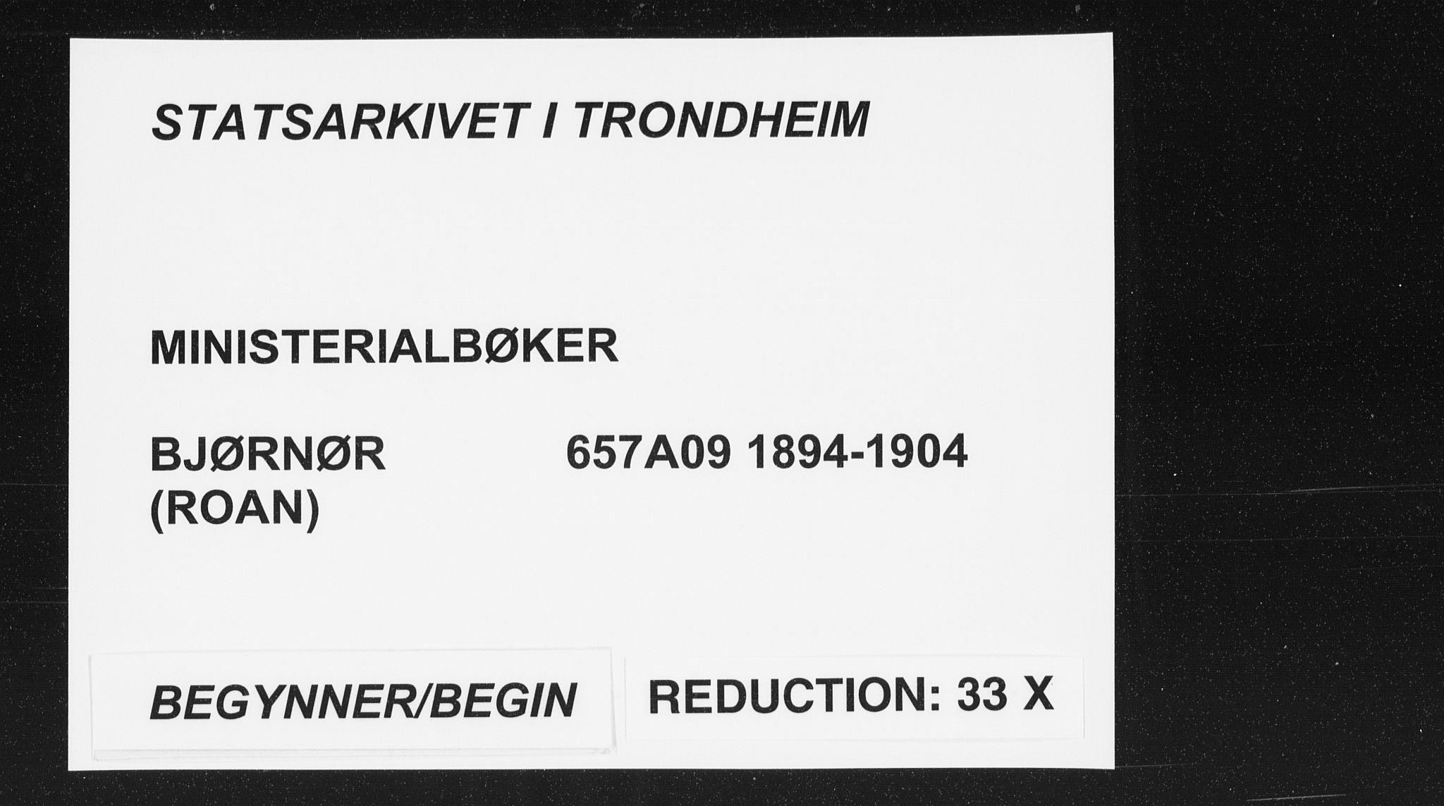 SAT, Ministerialprotokoller, klokkerbøker og fødselsregistre - Sør-Trøndelag, 657/L0708: Ministerialbok nr. 657A09, 1894-1904