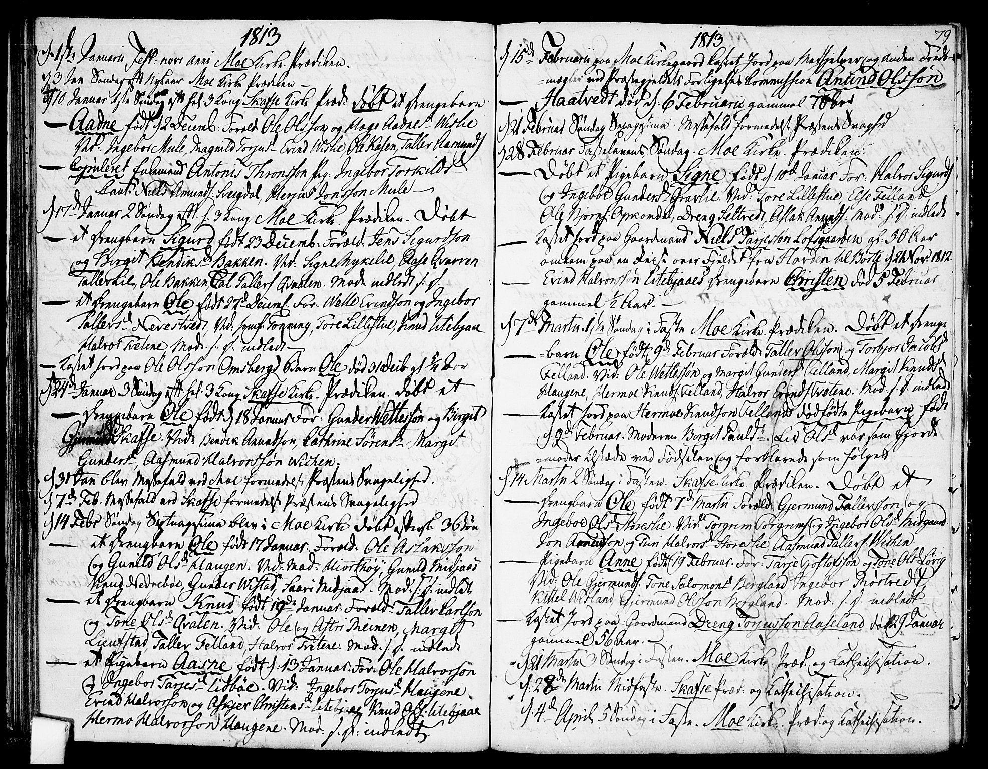SAKO, Mo kirkebøker, F/Fa/L0003: Ministerialbok nr. I 3, 1800-1814, s. 79