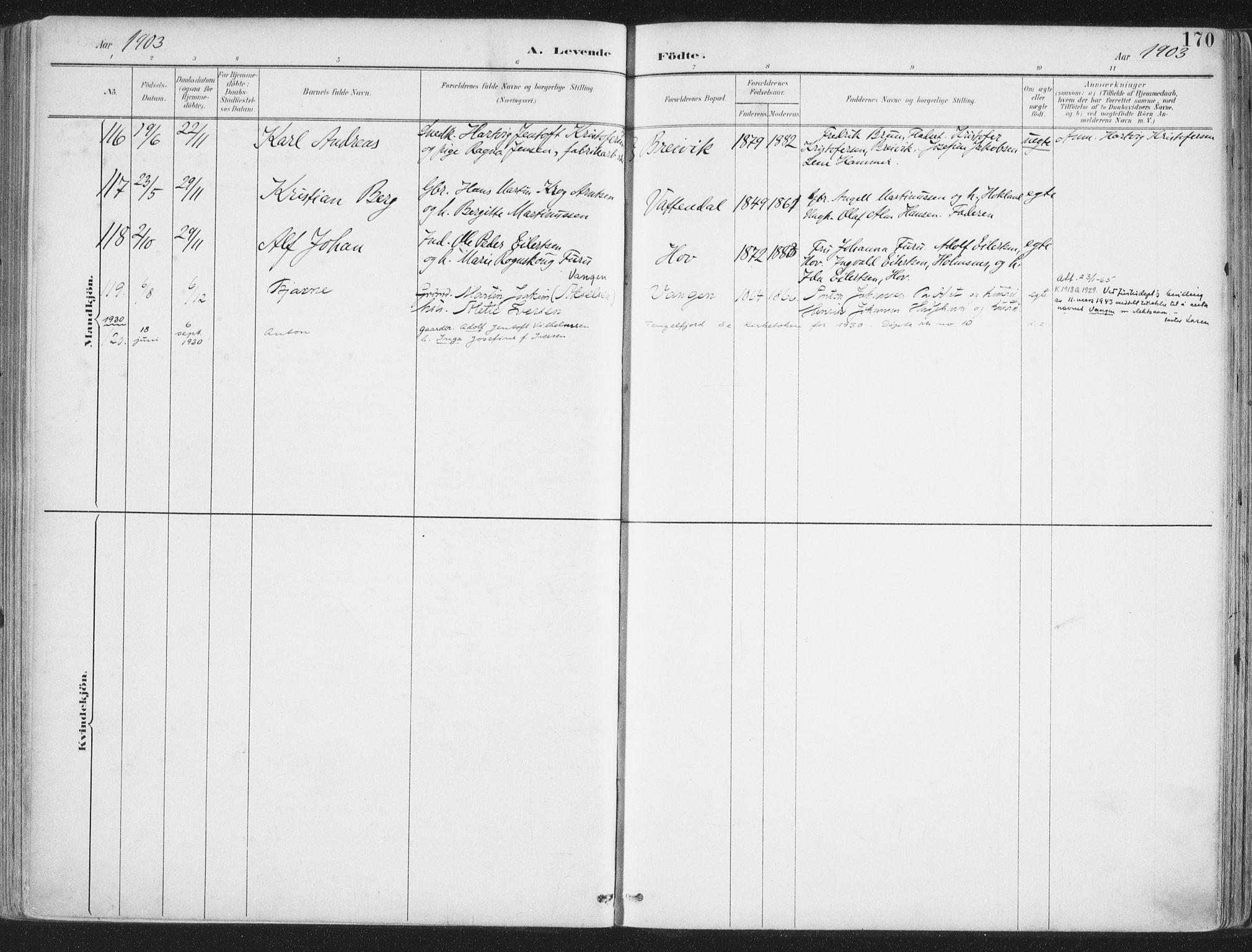 SAT, Ministerialprotokoller, klokkerbøker og fødselsregistre - Nordland, 888/L1246: Ministerialbok nr. 888A12, 1891-1903, s. 170
