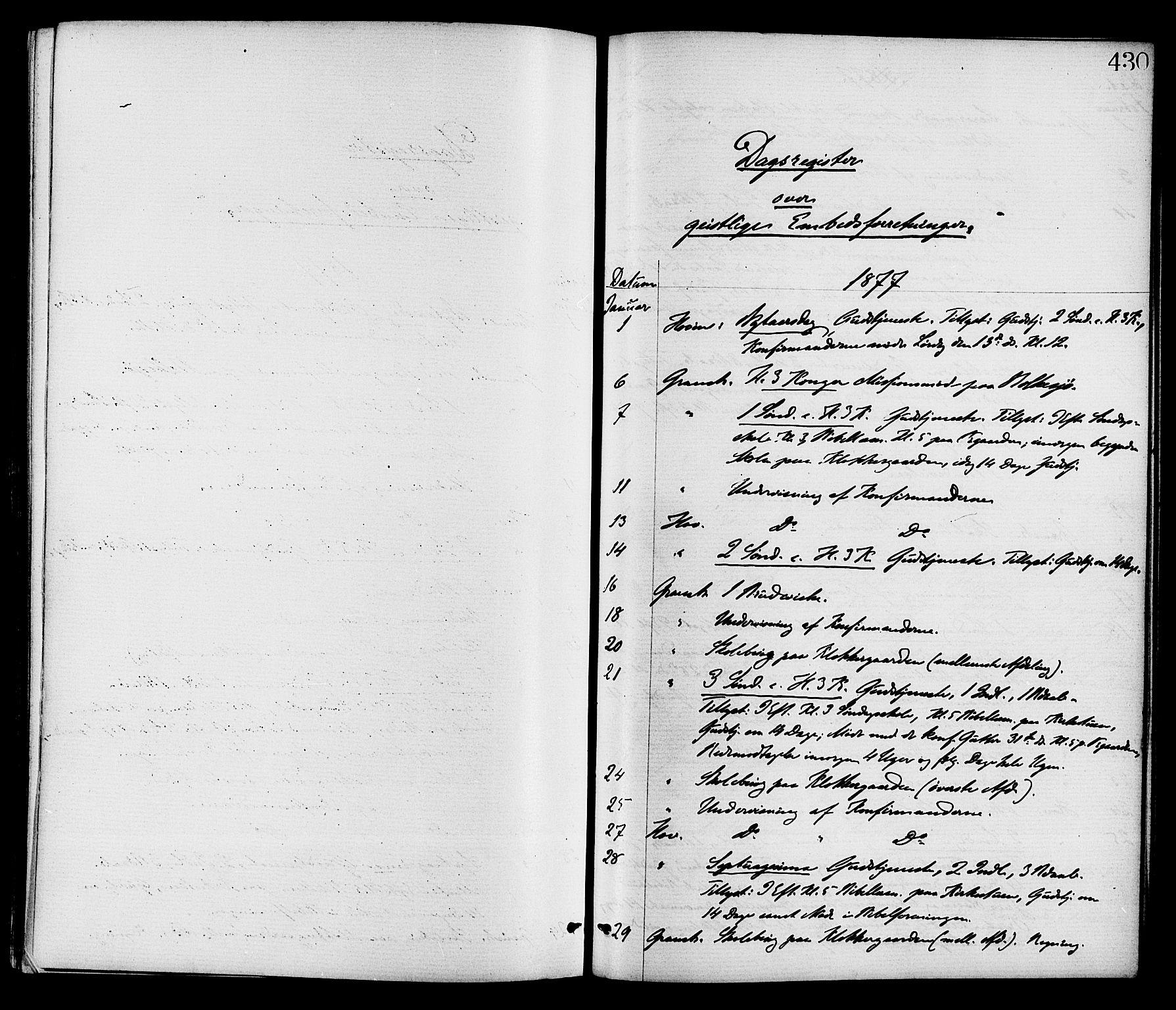 SAKO, Gransherad kirkebøker, F/Fa/L0004: Ministerialbok nr. I 4, 1871-1886, s. 430