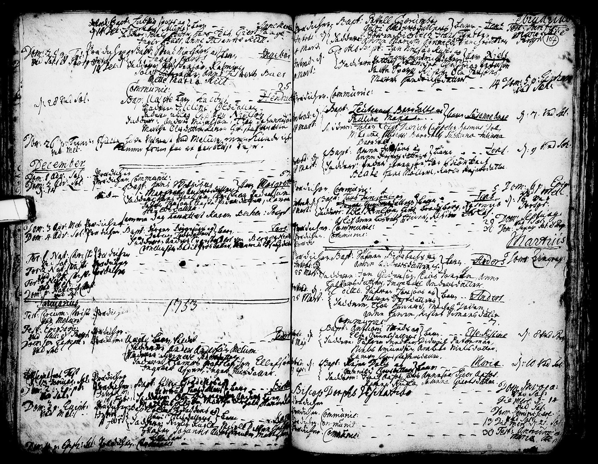 SAKO, Solum kirkebøker, F/Fa/L0002: Ministerialbok nr. I 2, 1713-1761, s. 107