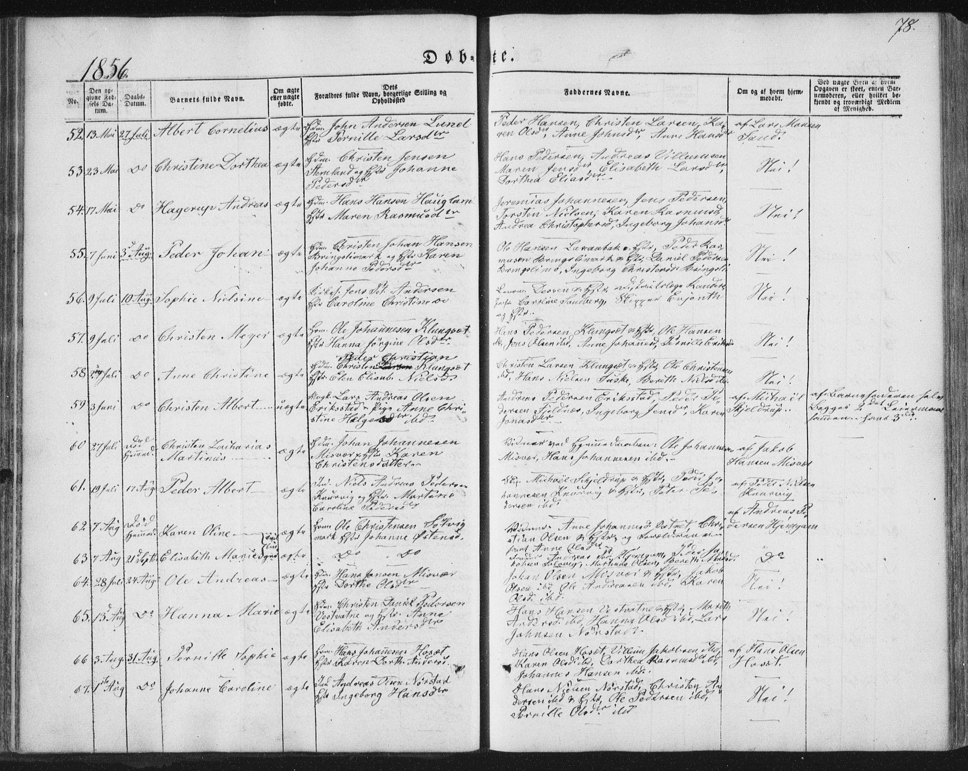 SAT, Ministerialprotokoller, klokkerbøker og fødselsregistre - Nordland, 852/L0738: Ministerialbok nr. 852A08, 1849-1865, s. 78