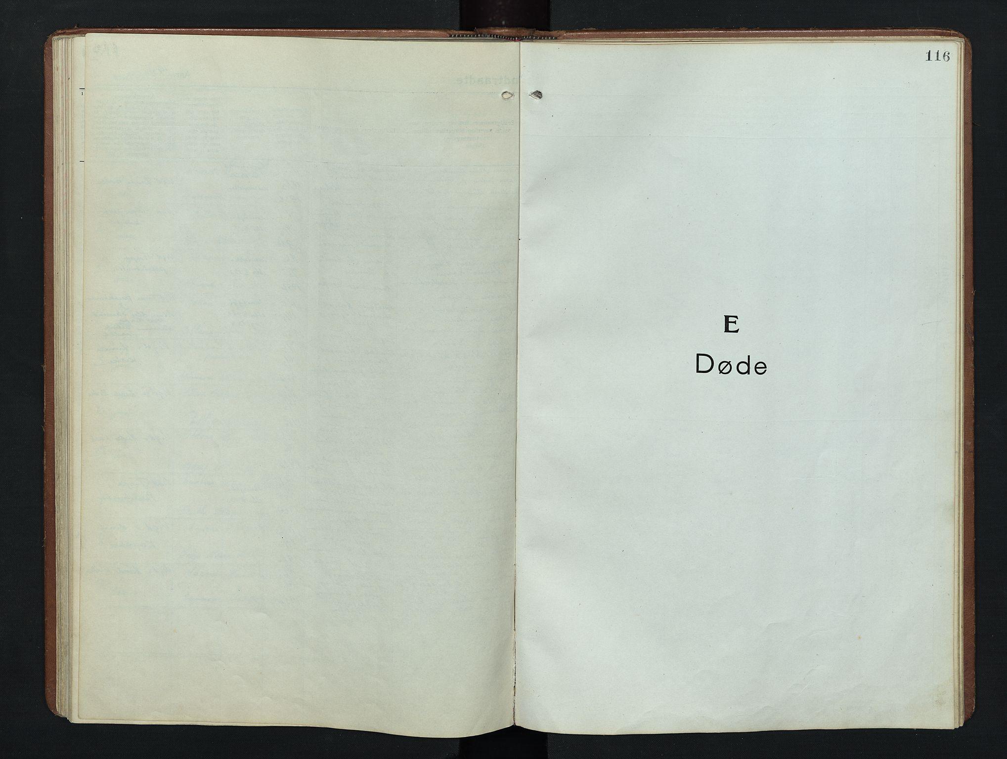 SAH, Nordre Land prestekontor, Klokkerbok nr. 9, 1921-1956, s. 116