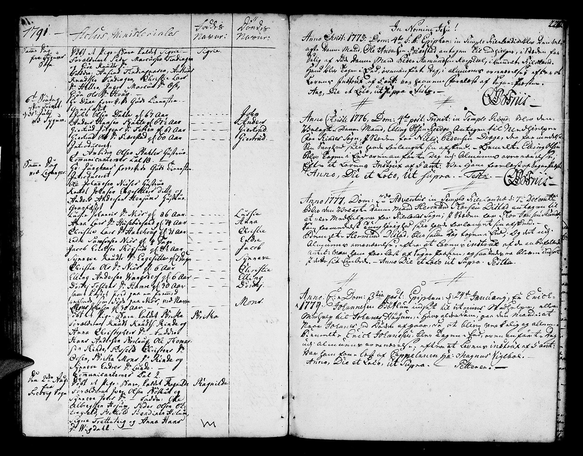SAB, Leikanger Sokneprestembete, Ministerialbok nr. A 4, 1770-1791, s. 220