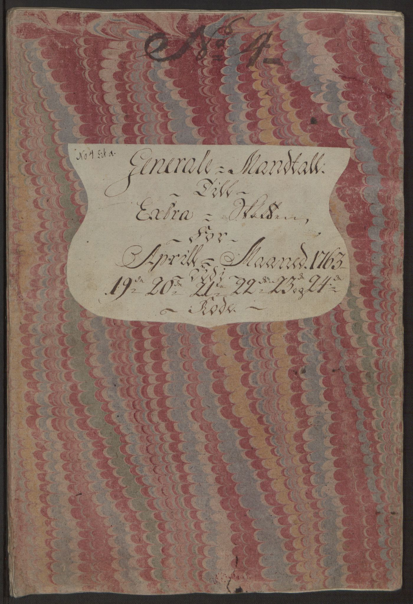 RA, Rentekammeret inntil 1814, Reviderte regnskaper, Byregnskaper, R/Rp/L0366: [P20] Kontribusjonsregnskap, 1763, s. 128