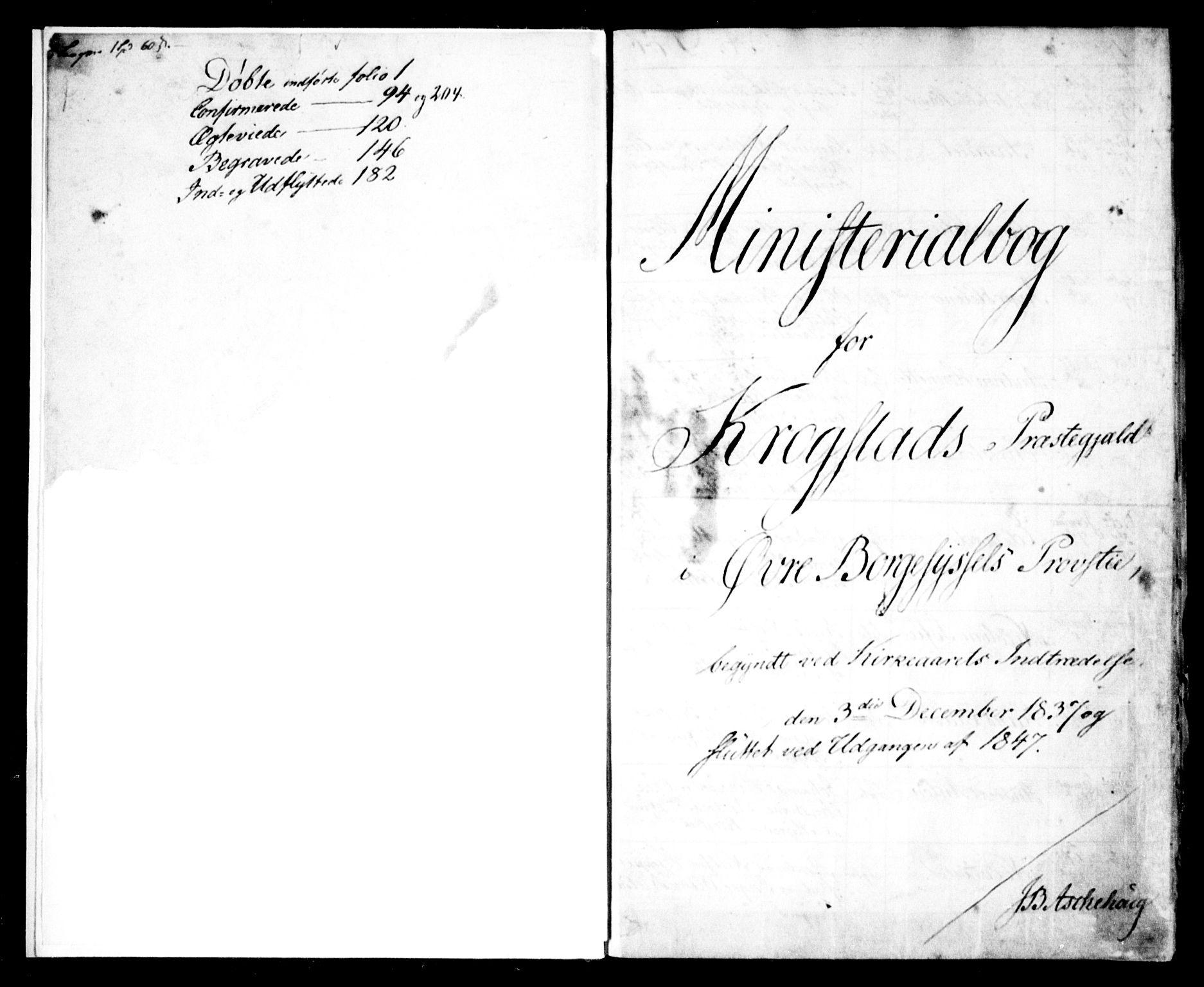SAO, Kråkstad prestekontor Kirkebøker, F/Fa/L0005: Ministerialbok nr. I 5, 1837-1847