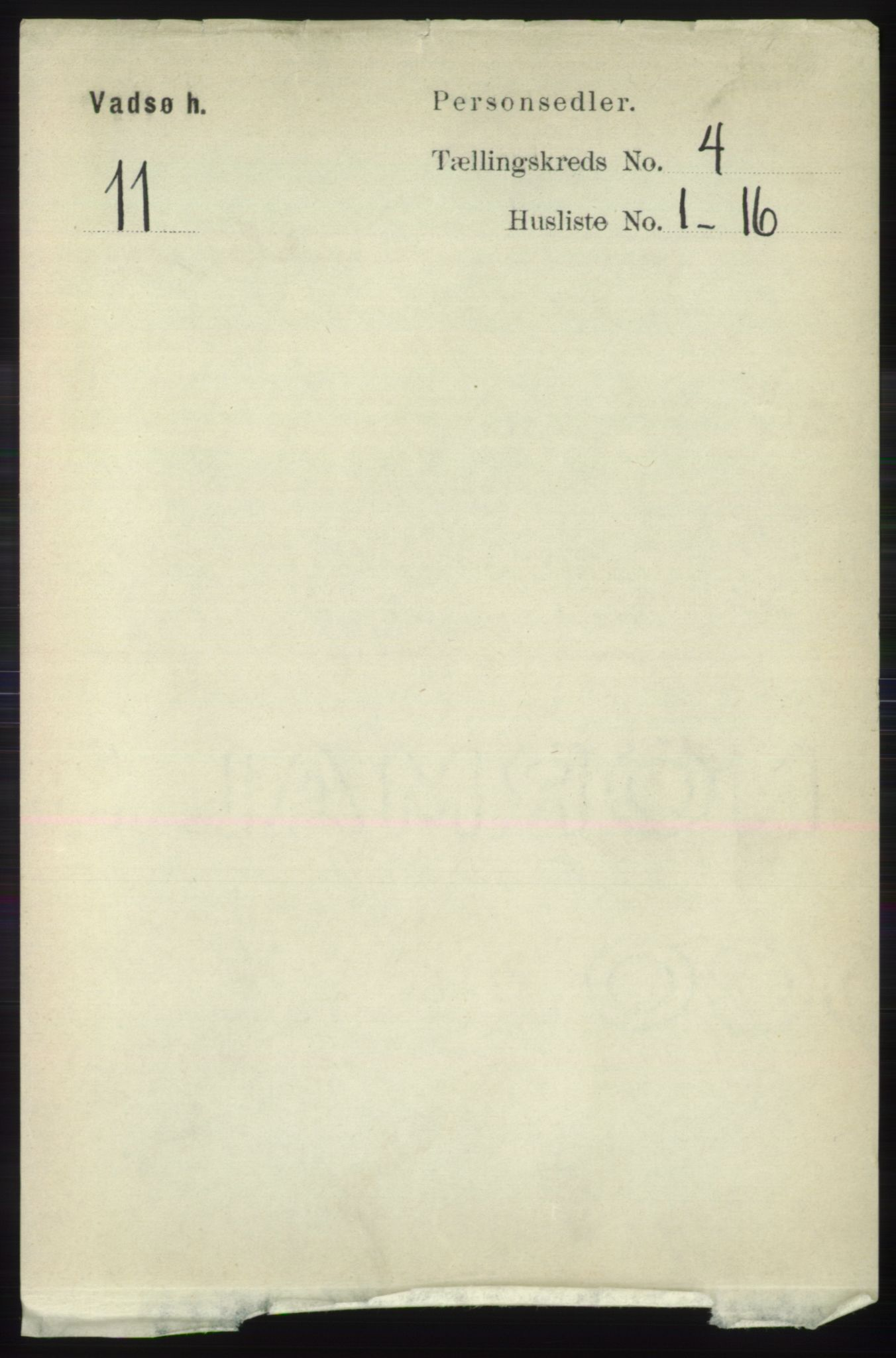 RA, Folketelling 1891 for 2029 Vadsø herred, 1891, s. 1207