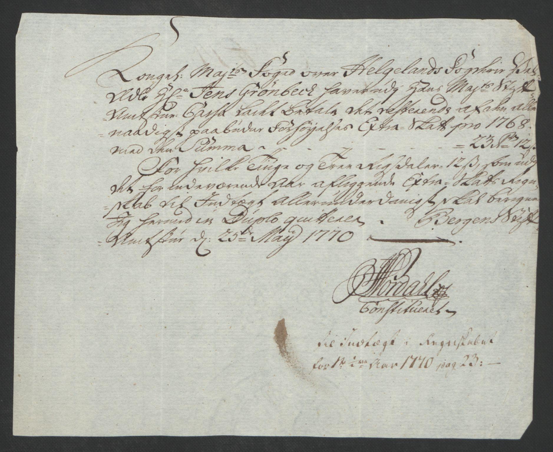RA, Rentekammeret inntil 1814, Reviderte regnskaper, Fogderegnskap, R65/L4573: Ekstraskatten Helgeland, 1762-1772, s. 300