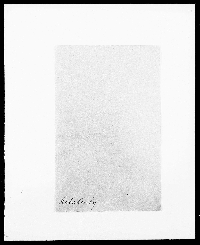 SAO, Delgobe, Charles Antoine - samling, D/Da/L0032: Rabakovsky - Rivertz, s. 1