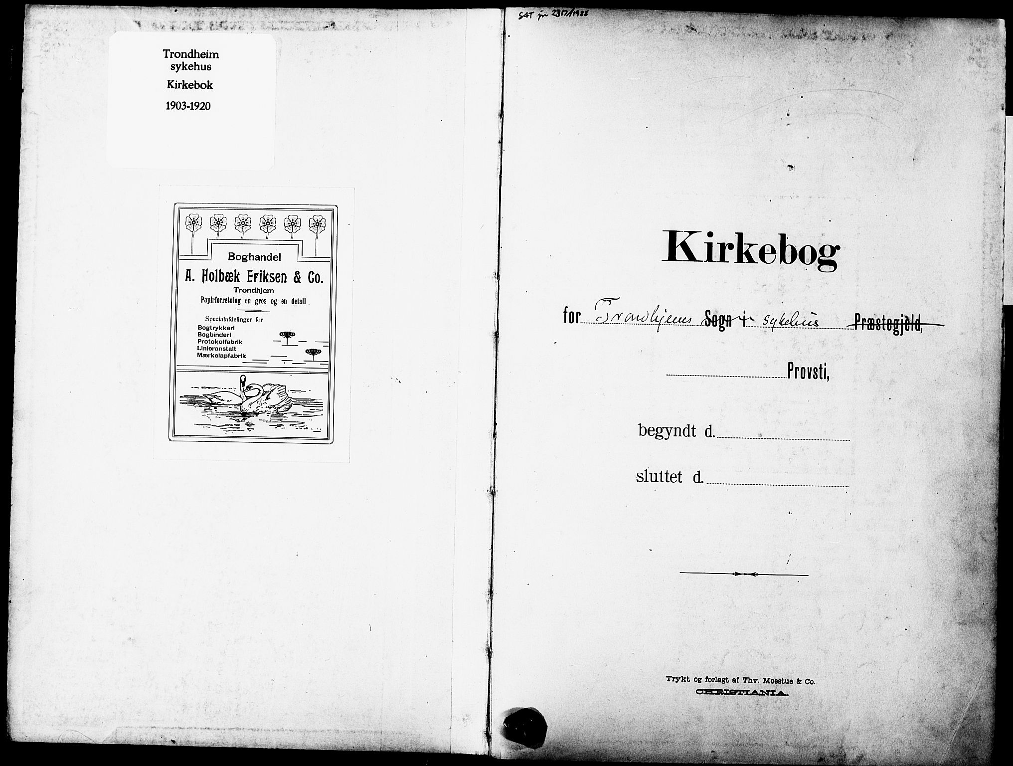 SAT, Ministerialprotokoller, klokkerbøker og fødselsregistre - Sør-Trøndelag, 628/L0483: Ministerialbok nr. 628A01, 1902-1920