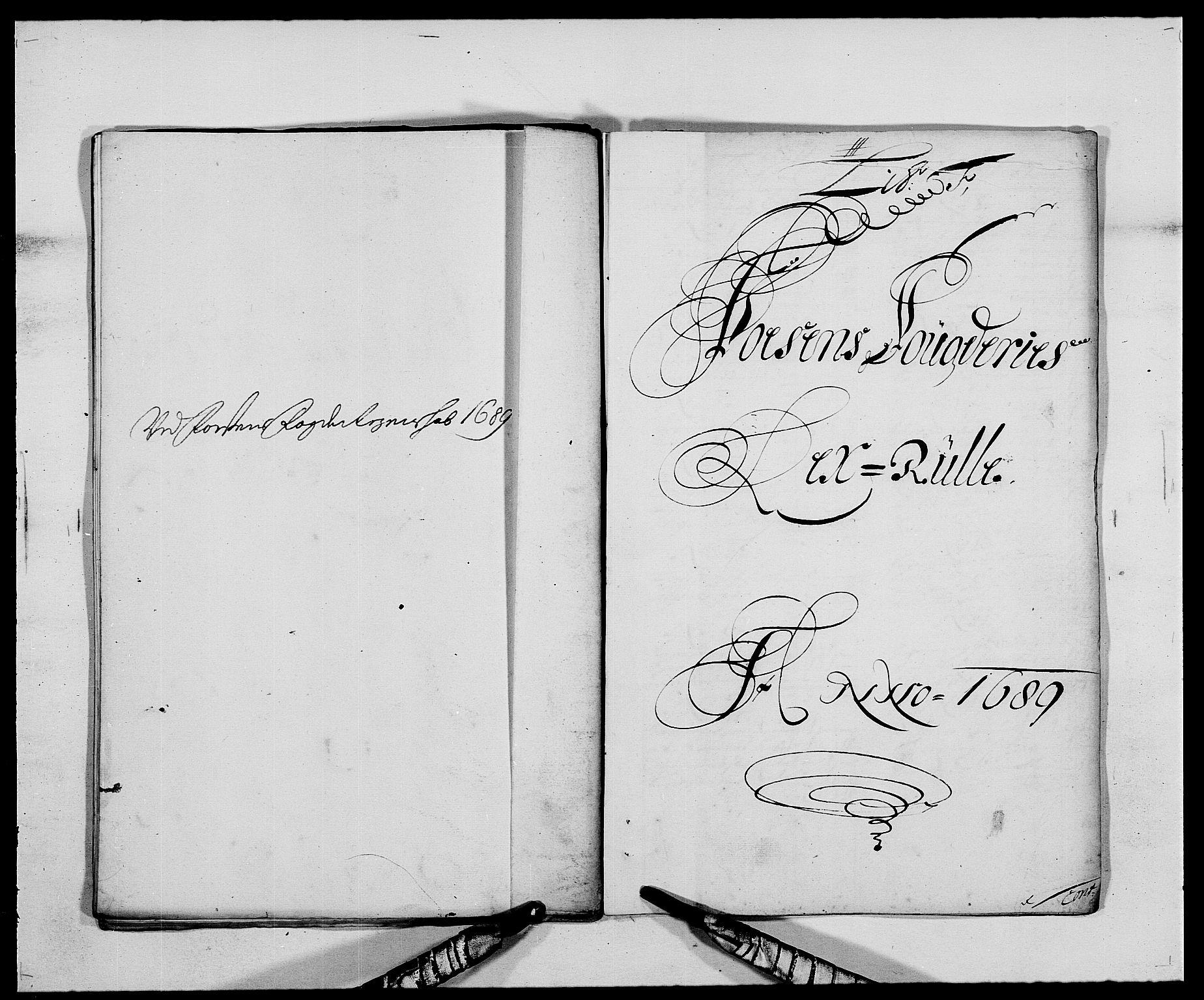 RA, Rentekammeret inntil 1814, Reviderte regnskaper, Fogderegnskap, R57/L3847: Fogderegnskap Fosen, 1689, s. 48