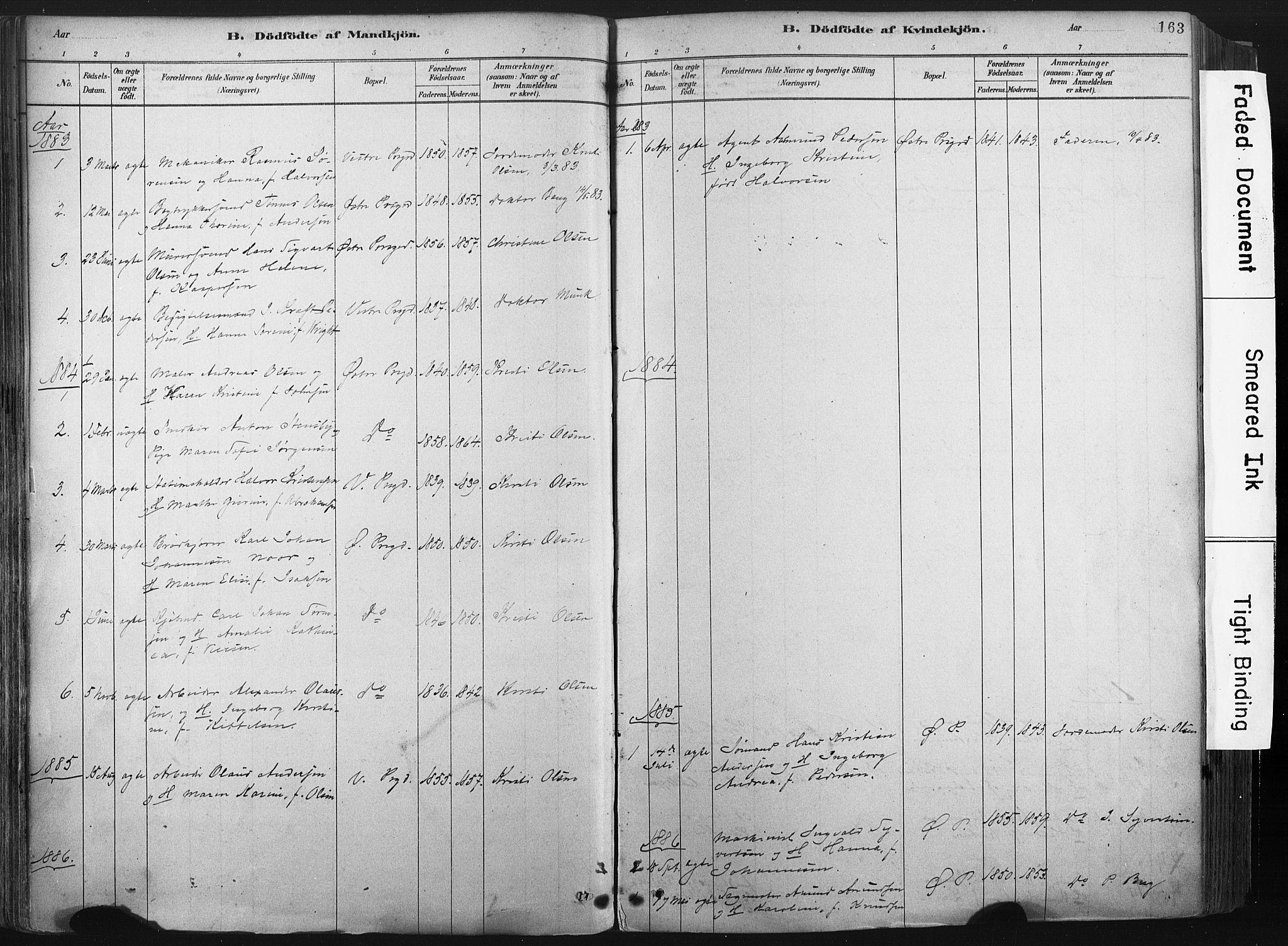 SAKO, Porsgrunn kirkebøker , F/Fa/L0008: Ministerialbok nr. 8, 1878-1895, s. 163