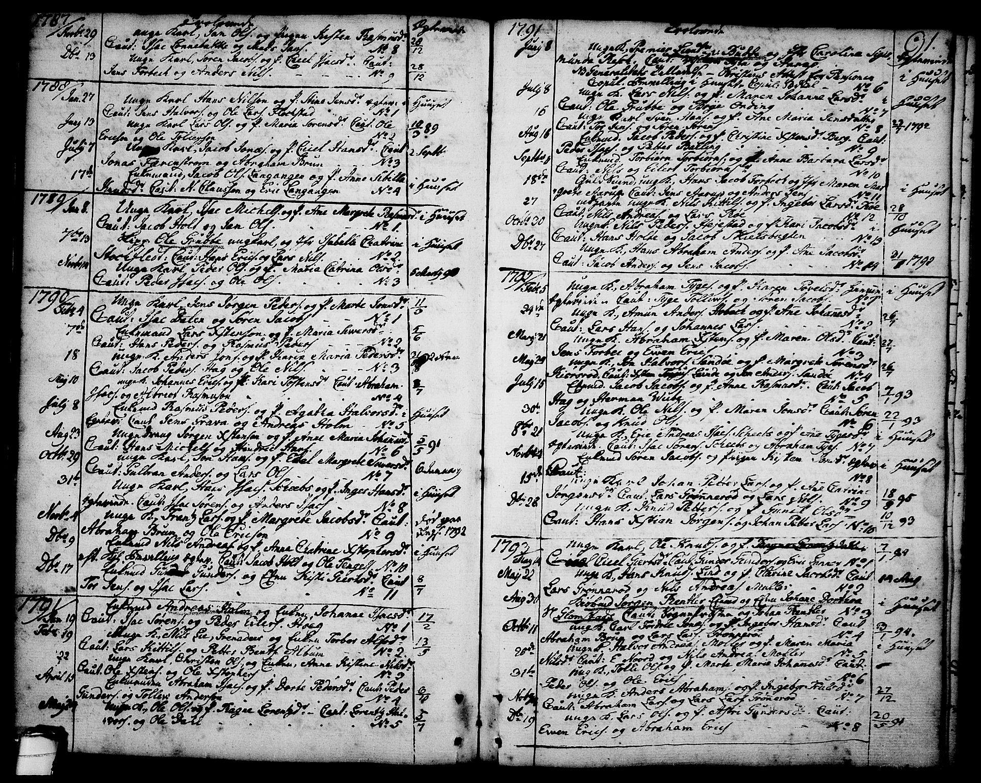 SAKO, Brevik kirkebøker, F/Fa/L0003: Ministerialbok nr. 3, 1764-1814, s. 91