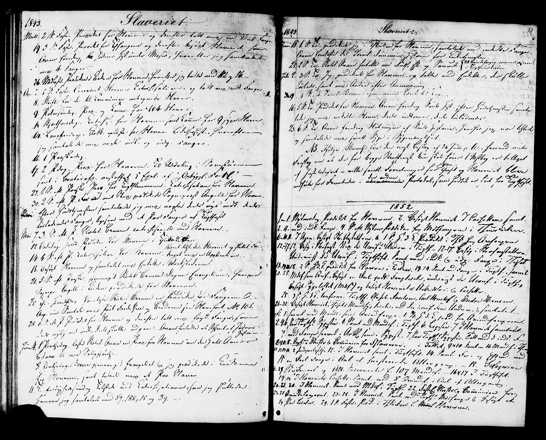 SAT, Ministerialprotokoller, klokkerbøker og fødselsregistre - Sør-Trøndelag, 624/L0481: Ministerialbok nr. 624A02, 1841-1869, s. 33