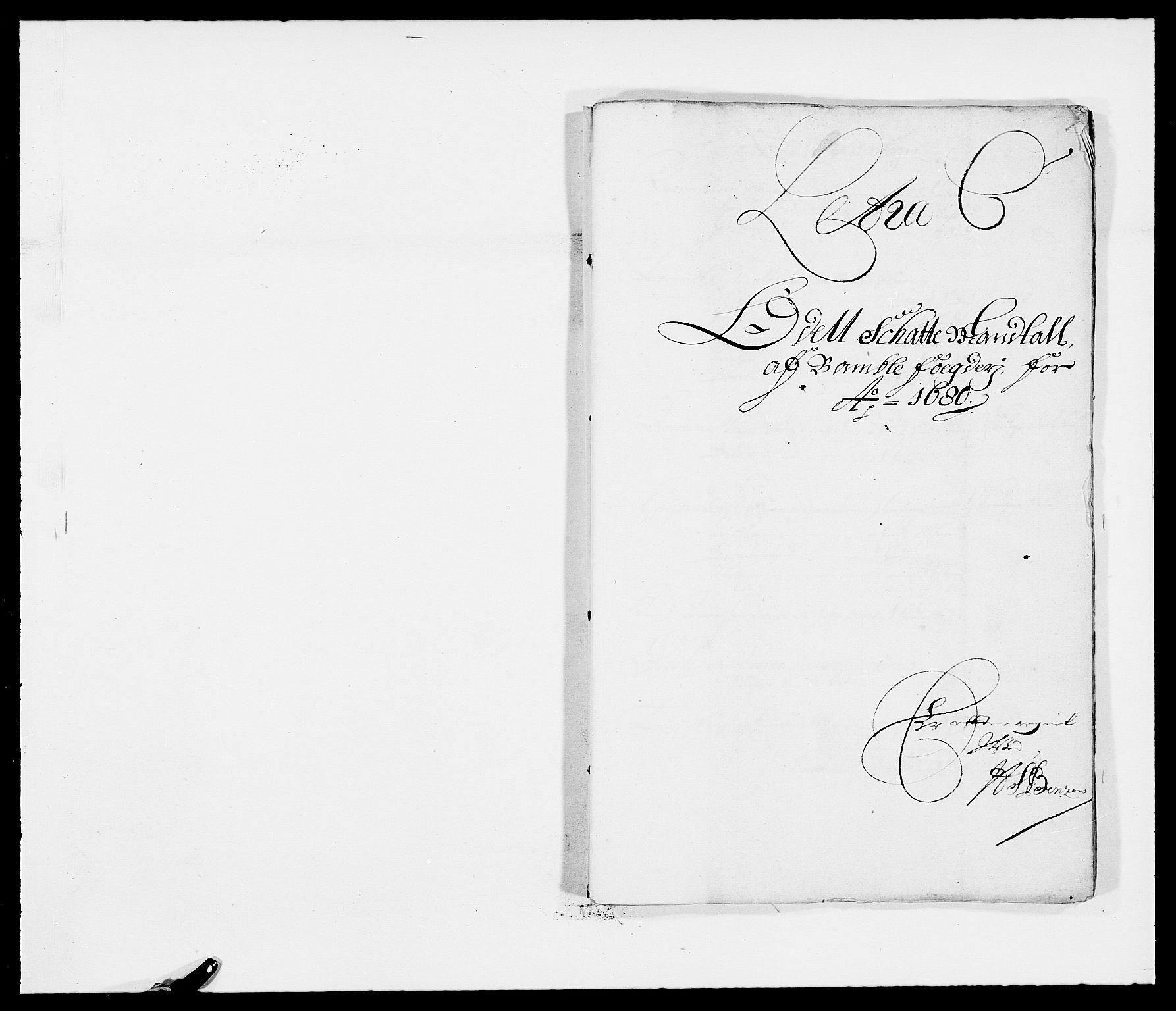 RA, Rentekammeret inntil 1814, Reviderte regnskaper, Fogderegnskap, R34/L2045: Fogderegnskap Bamble, 1680-1681, s. 76