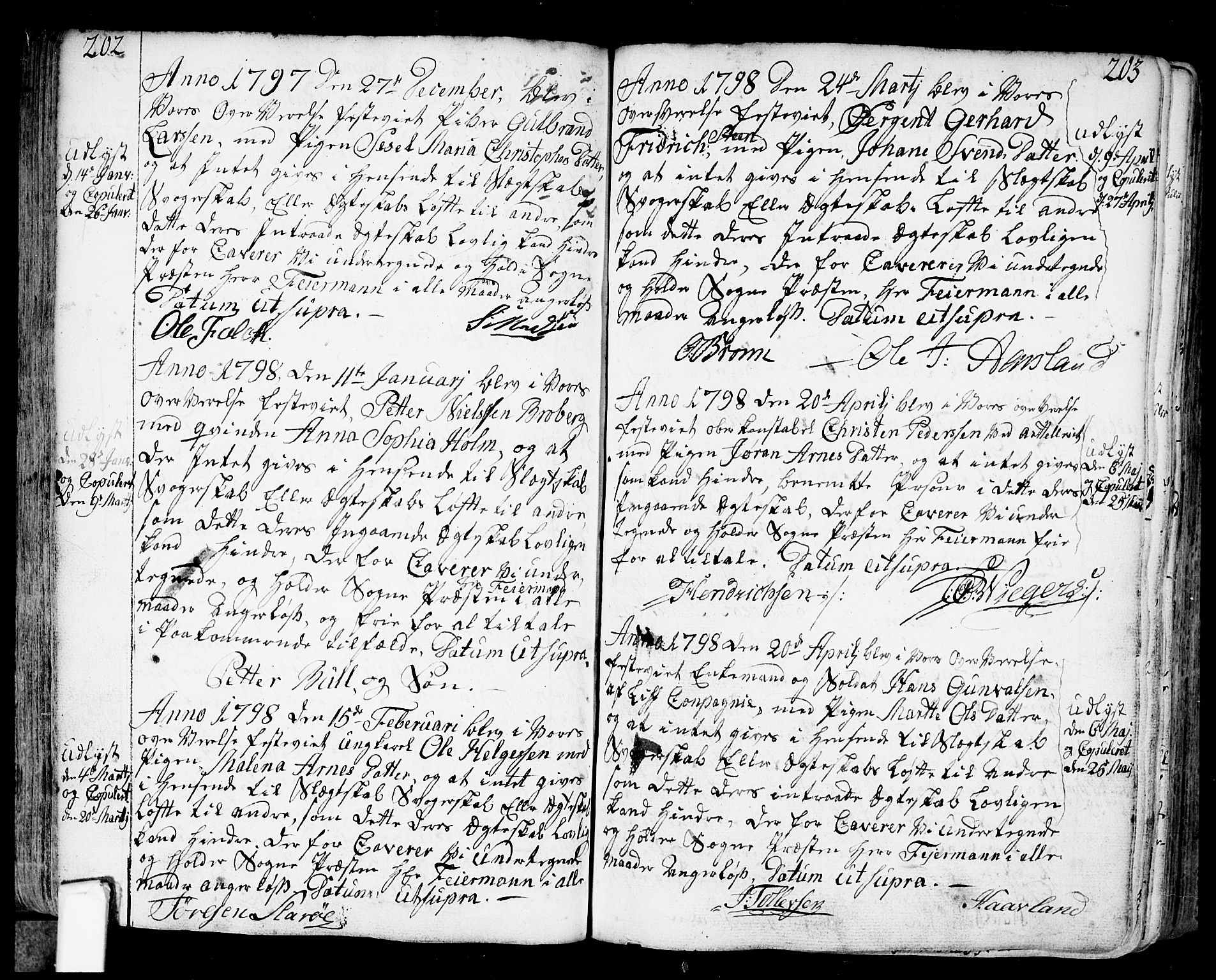 SAO, Fredrikstad prestekontor Kirkebøker, F/Fa/L0002: Ministerialbok nr. 2, 1750-1804, s. 202-203