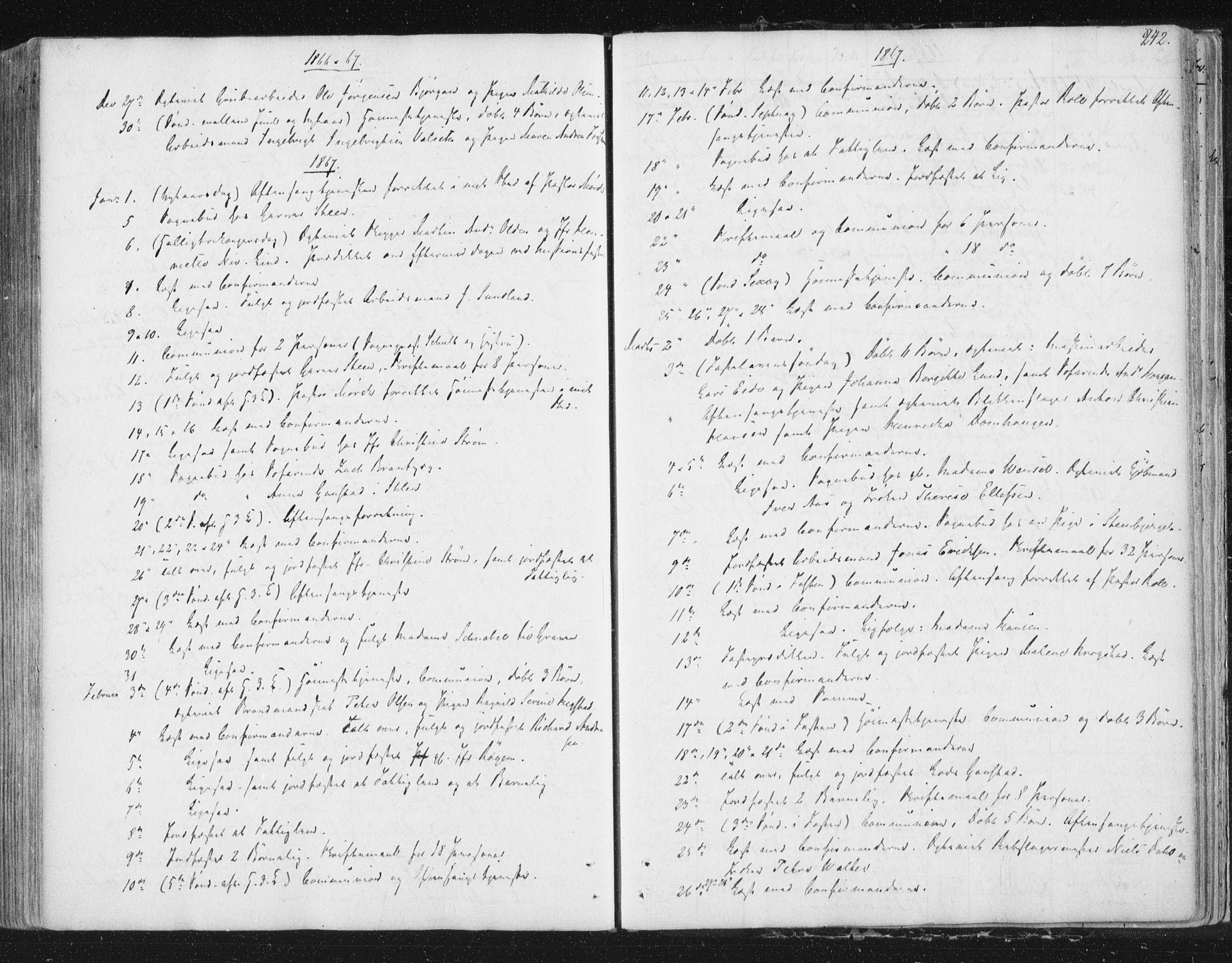 SAT, Ministerialprotokoller, klokkerbøker og fødselsregistre - Sør-Trøndelag, 602/L0127: Residerende kapellans bok nr. 602B01, 1821-1875, s. 242
