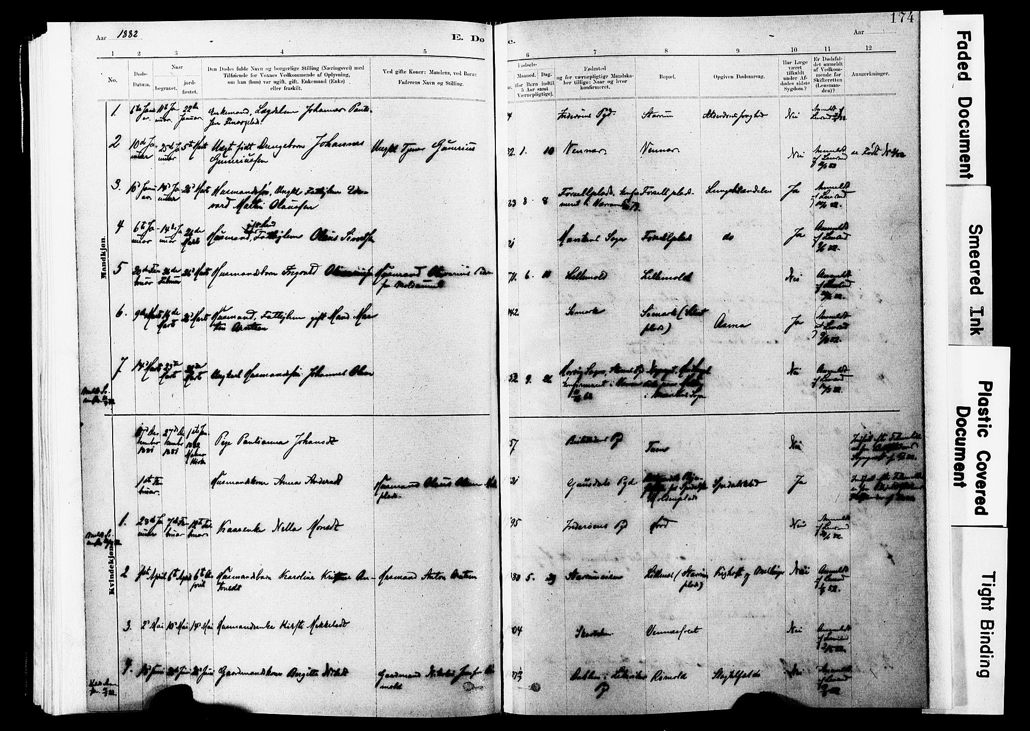 SAT, Ministerialprotokoller, klokkerbøker og fødselsregistre - Nord-Trøndelag, 744/L0420: Ministerialbok nr. 744A04, 1882-1904, s. 174