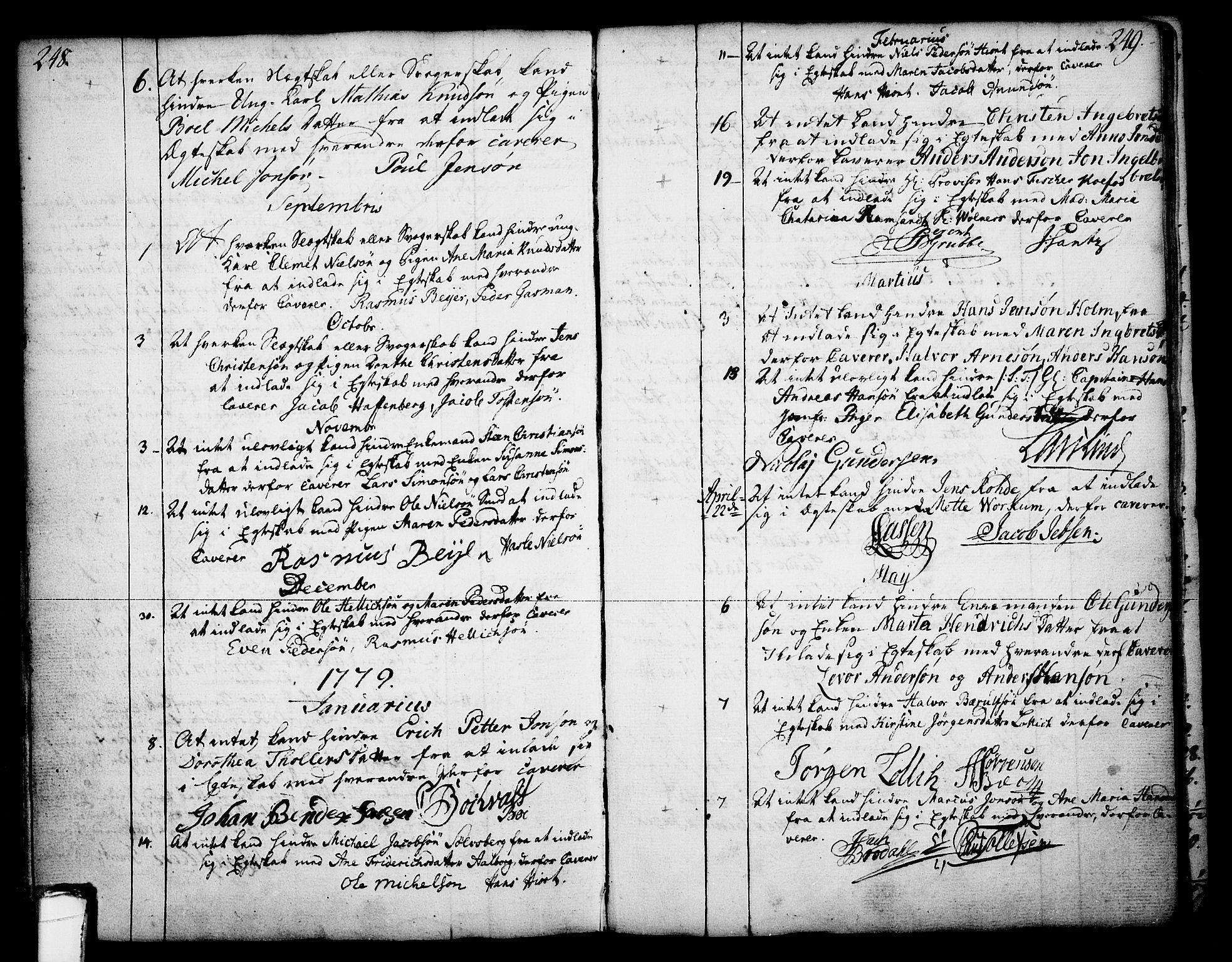 SAKO, Skien kirkebøker, F/Fa/L0003: Ministerialbok nr. 3, 1755-1791, s. 248-249