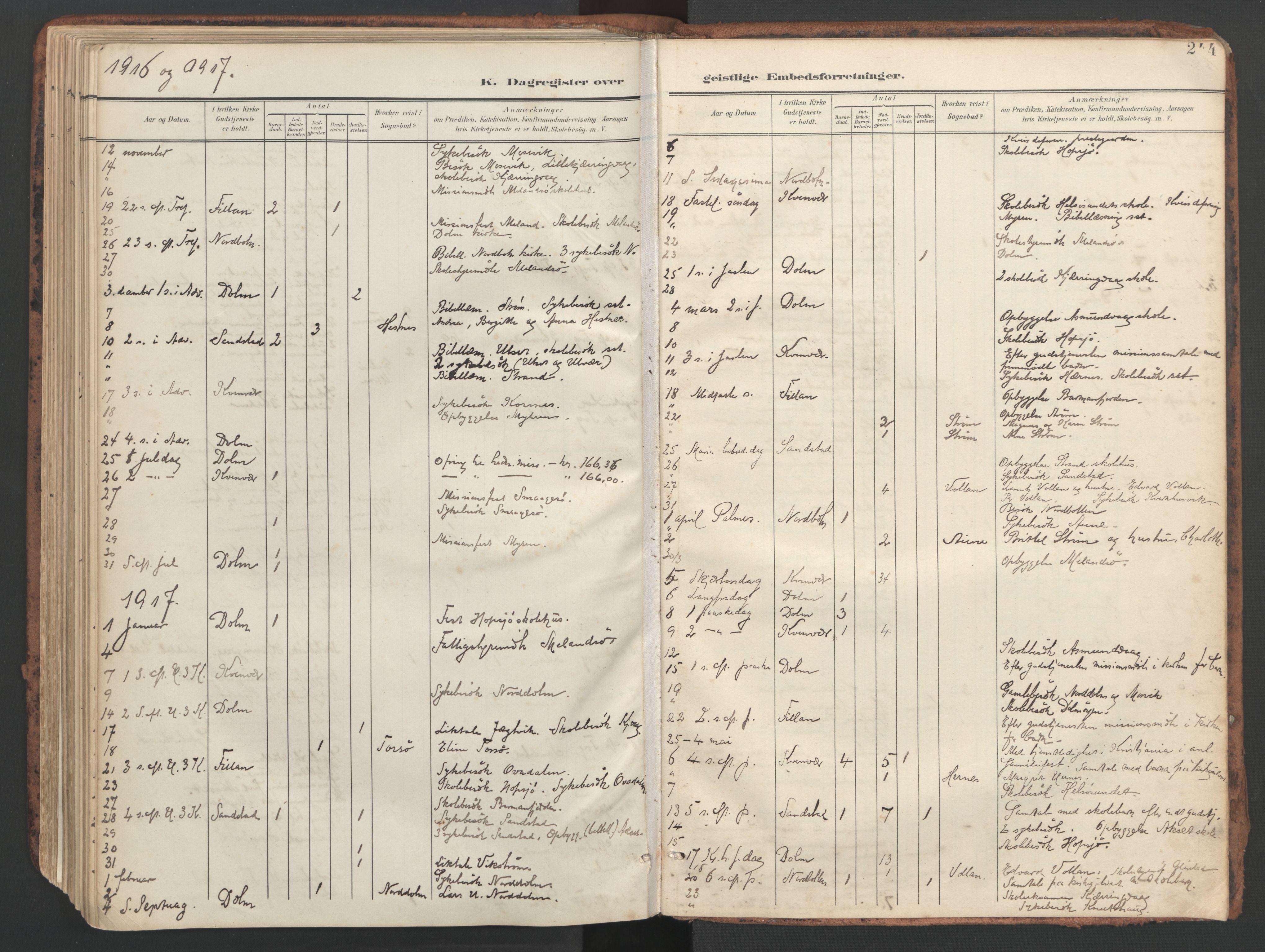 SAT, Ministerialprotokoller, klokkerbøker og fødselsregistre - Sør-Trøndelag, 634/L0537: Ministerialbok nr. 634A13, 1896-1922, s. 244