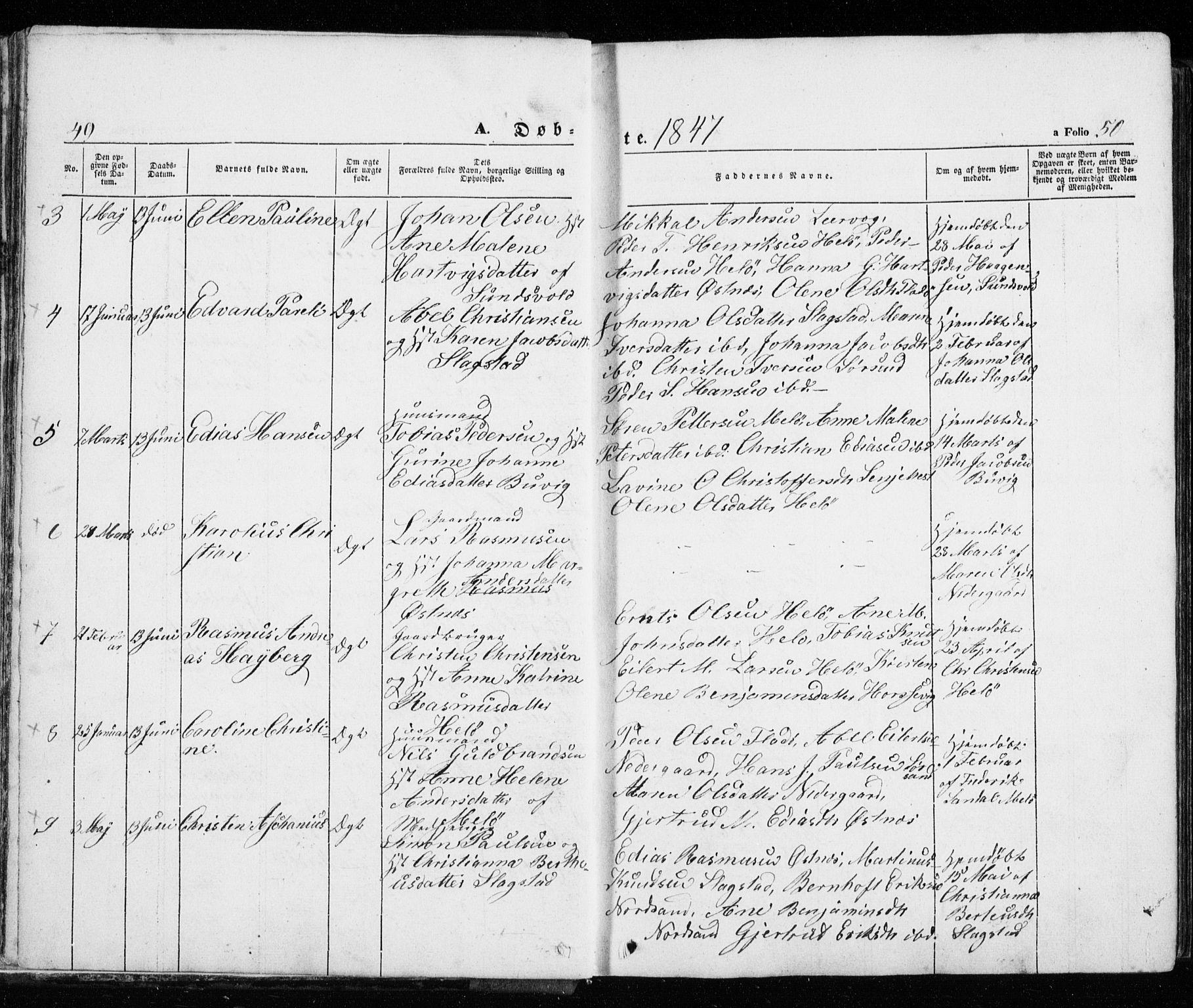 SATØ, Trondenes sokneprestkontor, H/Ha/L0010kirke: Ministerialbok nr. 10, 1840-1865, s. 49-50