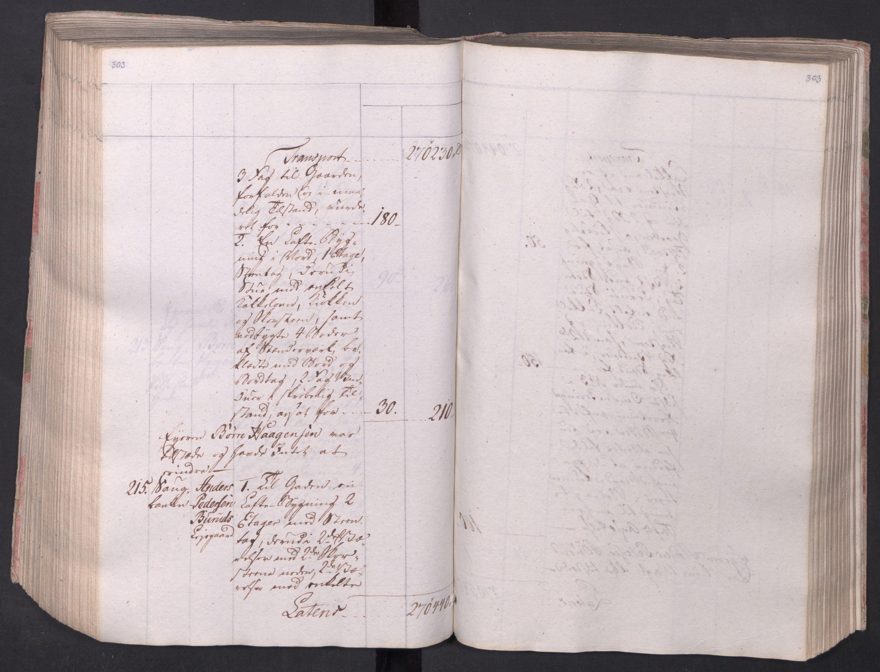 SAO, Kristiania stiftamt, I/Ia/L0015: Branntakster, 1797, s. 303