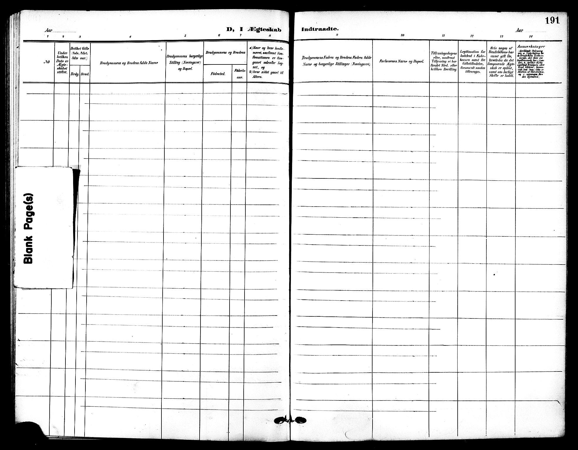 SAT, Ministerialprotokoller, klokkerbøker og fødselsregistre - Sør-Trøndelag, 601/L0095: Klokkerbok nr. 601C13, 1902-1911, s. 191