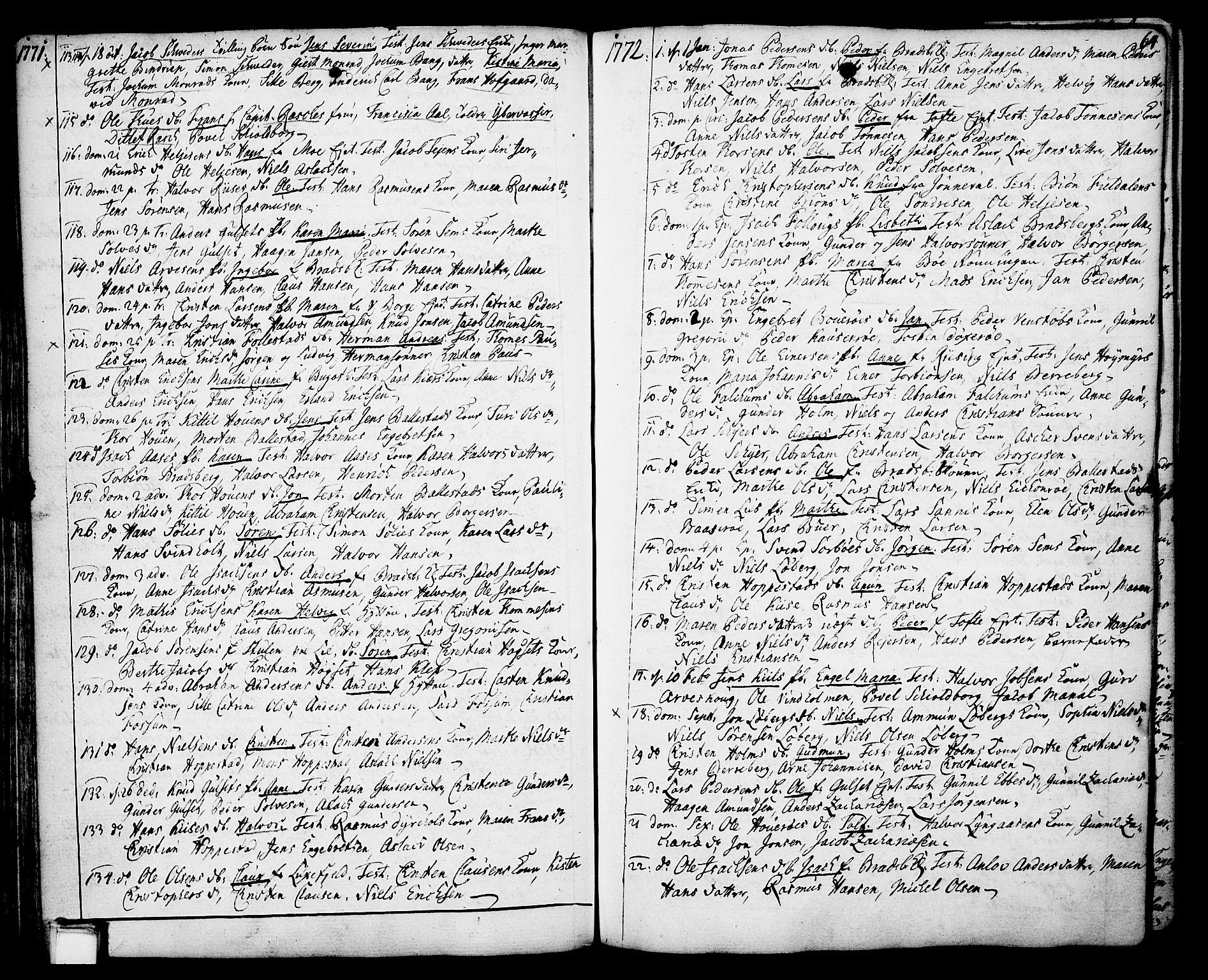 SAKO, Gjerpen kirkebøker, F/Fa/L0002: Ministerialbok nr. 2, 1747-1795, s. 64