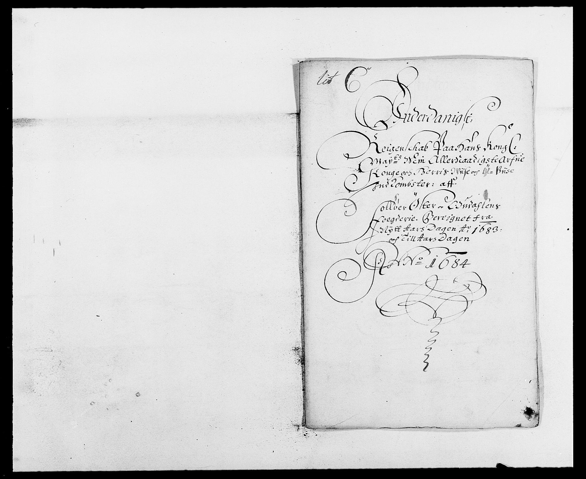 RA, Rentekammeret inntil 1814, Reviderte regnskaper, Fogderegnskap, R13/L0820: Fogderegnskap Solør, Odal og Østerdal, 1683, s. 2