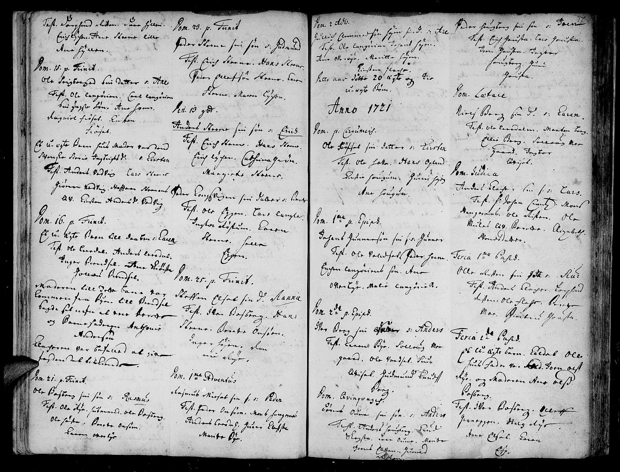 SAT, Ministerialprotokoller, klokkerbøker og fødselsregistre - Sør-Trøndelag, 612/L0368: Ministerialbok nr. 612A02, 1702-1753, s. 17