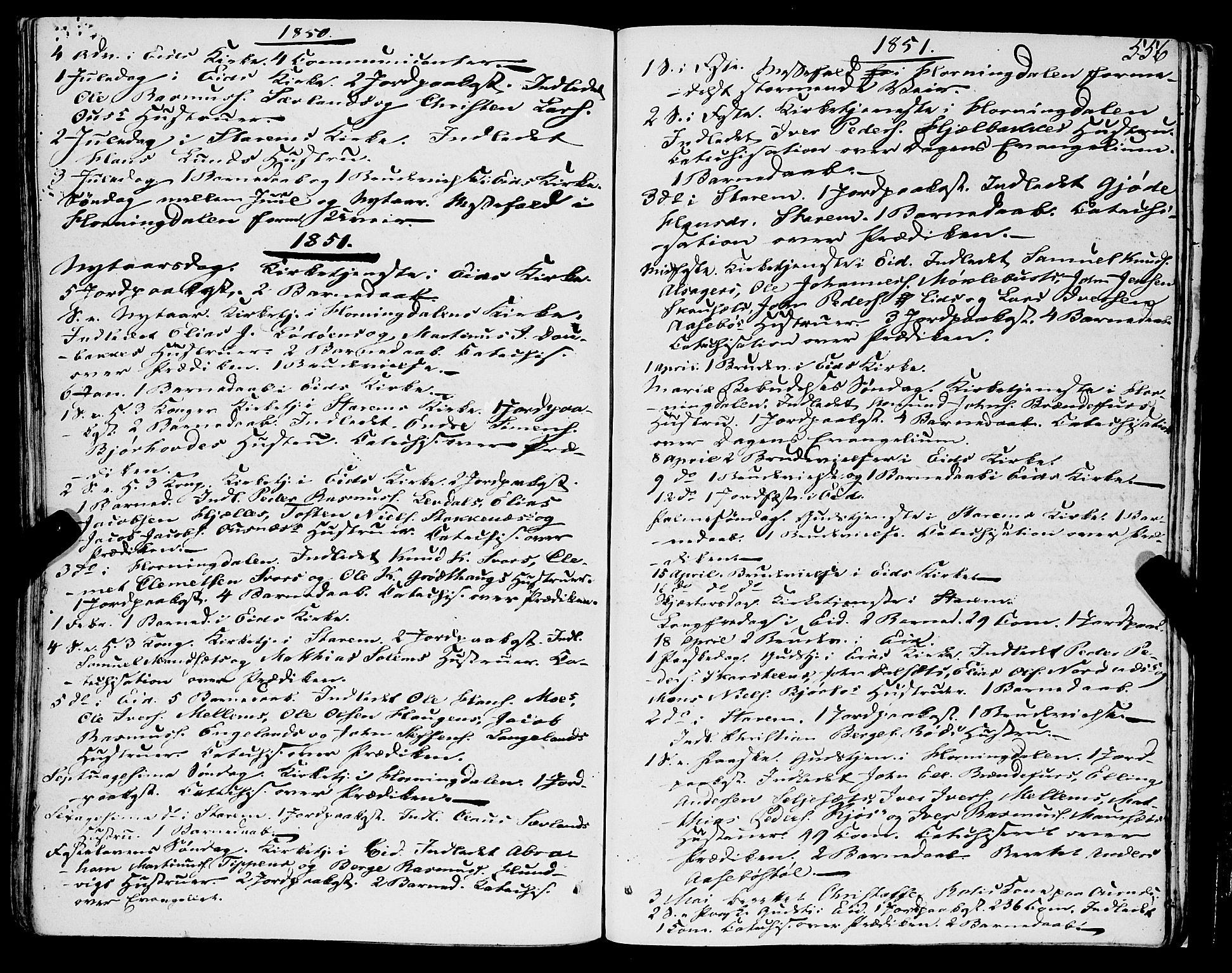 SAB, Eid Sokneprestembete, H/Haa: Ministerialbok nr. A 7, 1844-1858, s. 556
