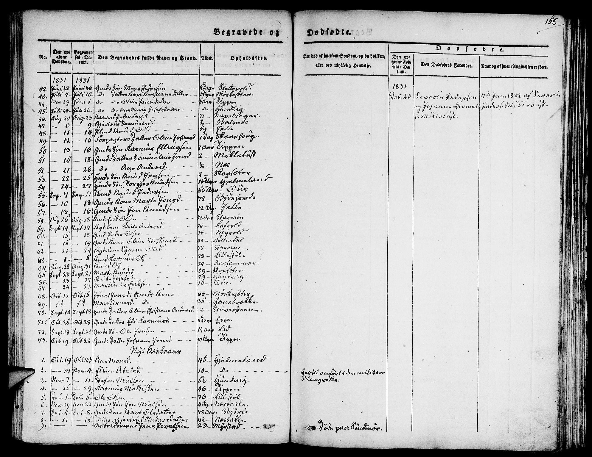 SAB, Eid Sokneprestembete, H/Haa: Ministerialbok nr. A 6, 1831-1843, s. 158