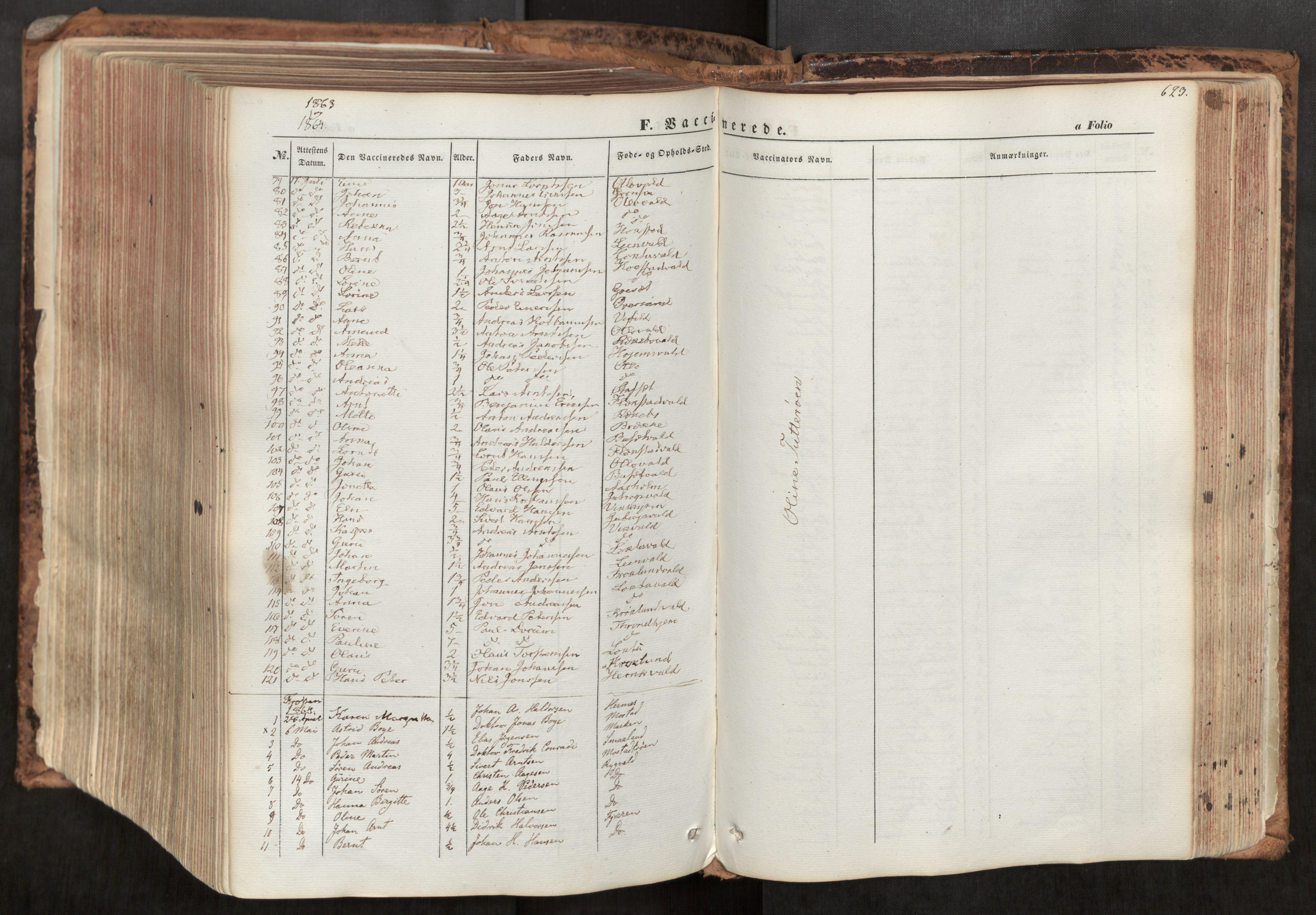 SAT, Ministerialprotokoller, klokkerbøker og fødselsregistre - Nord-Trøndelag, 713/L0116: Ministerialbok nr. 713A07, 1850-1877, s. 623